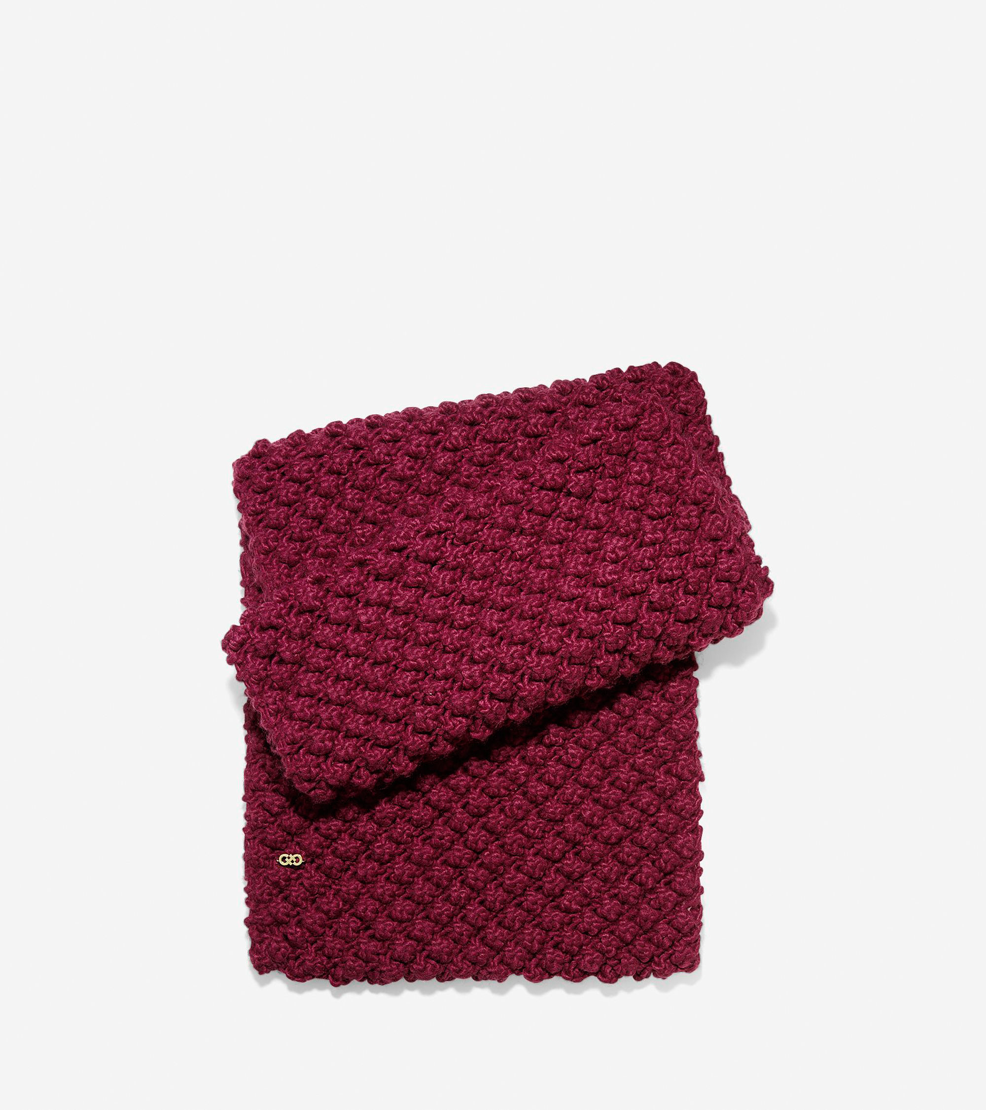Cole haan Popcorn Stitch Infinity Scarf in Red Lyst