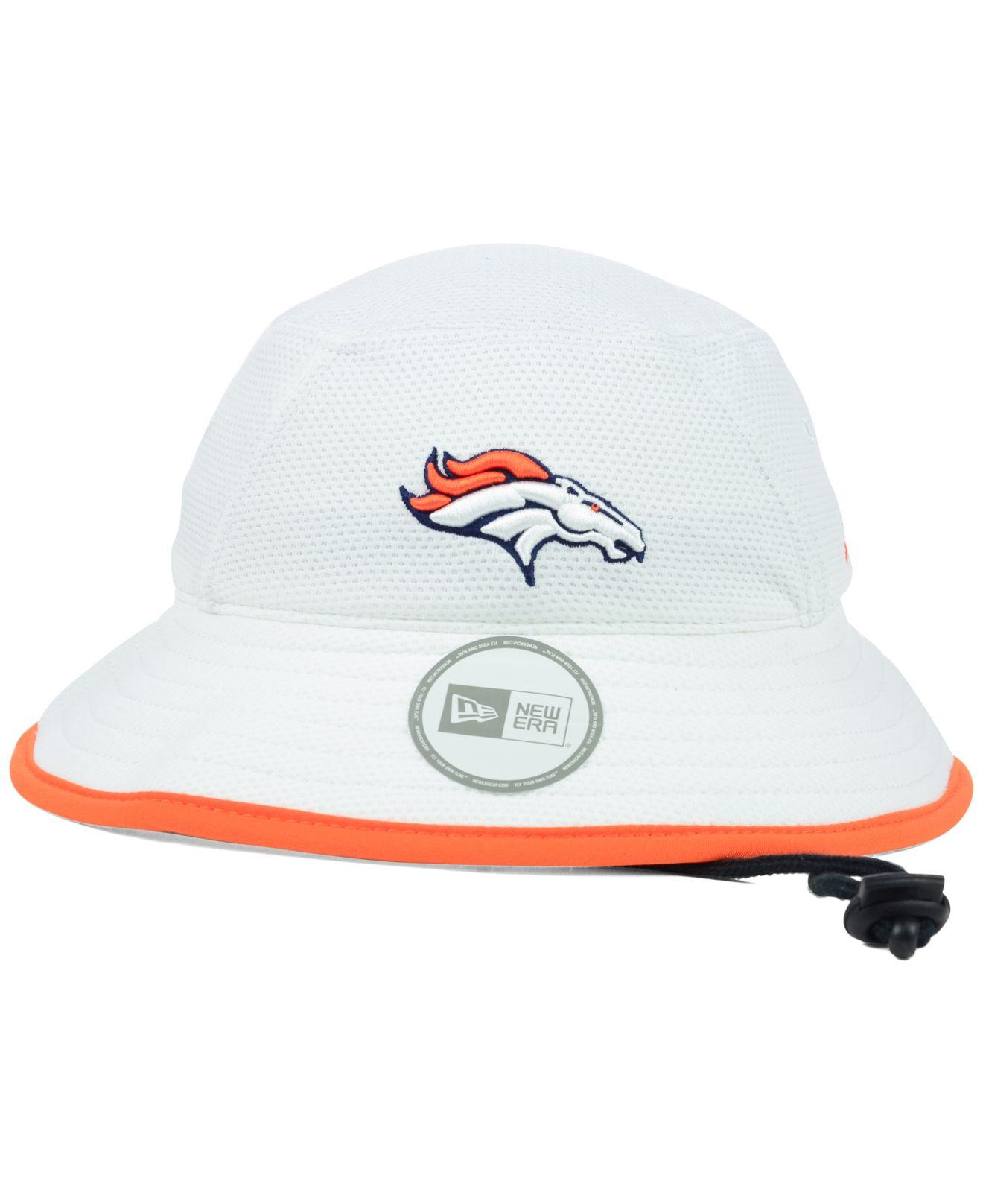 Lyst - KTZ Denver Broncos Training Camp Bucket Hat in White f250986f4ee