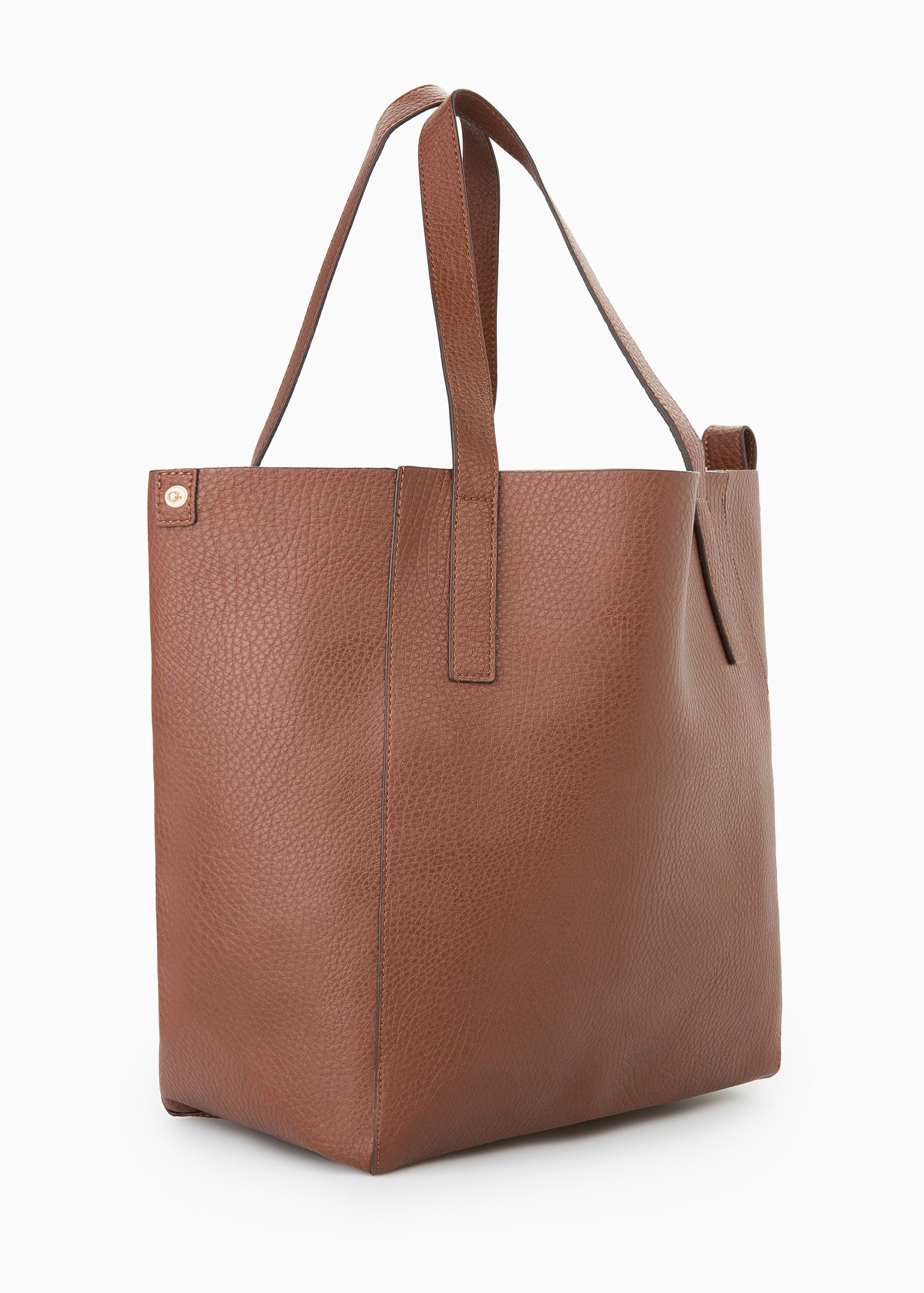 Lyst - Mango Faux-Leather Shopper Bag in Brown