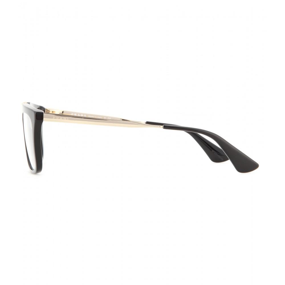 23c26d67ac4 cheapest womens used prada sunglasses 12445 bd3f5  czech lyst prada  geometric frame optical glasses in metallic cad4f 38cfb