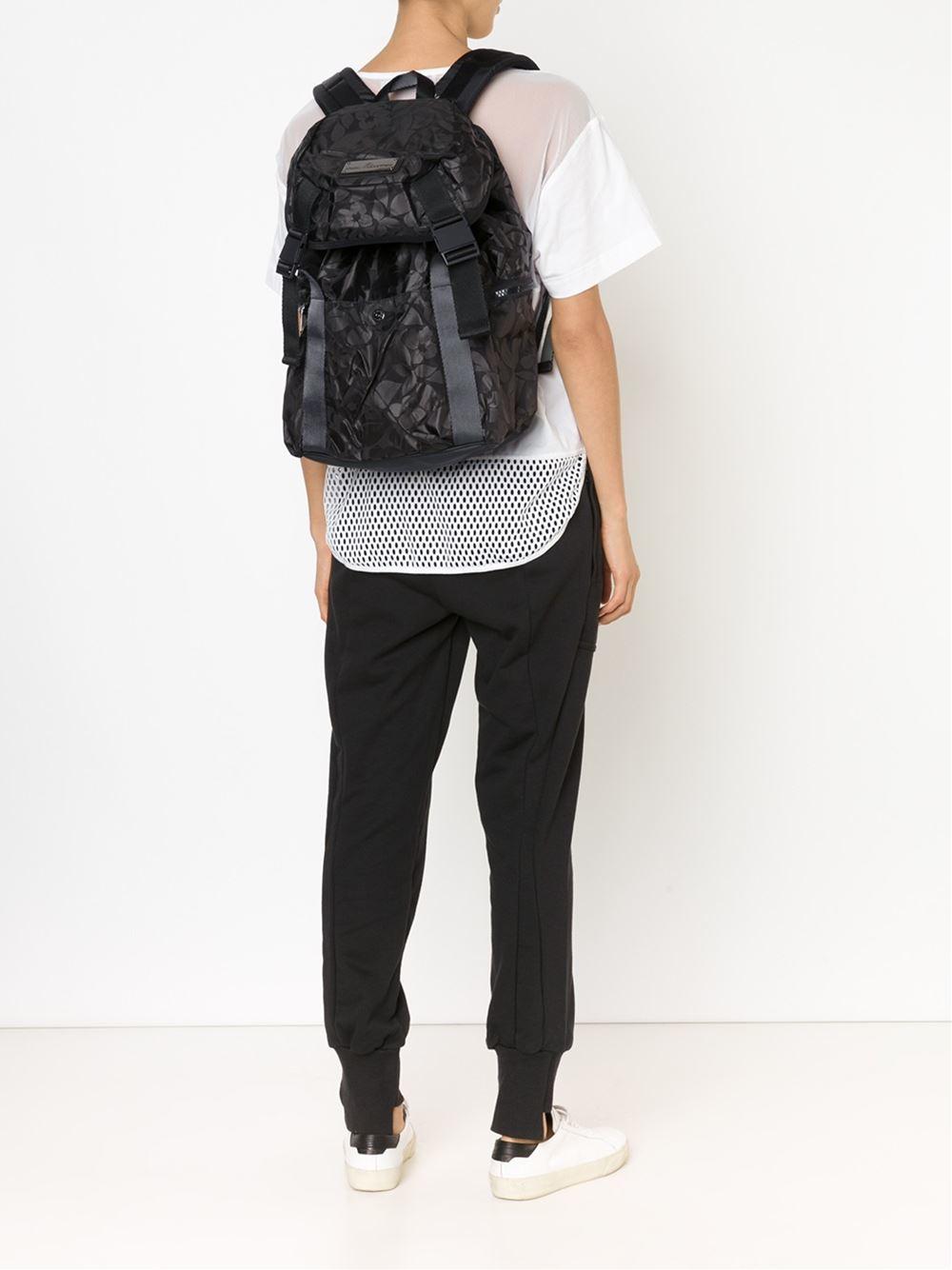 adidas by stella mccartney 39 weekender 39 backpack in gray. Black Bedroom Furniture Sets. Home Design Ideas