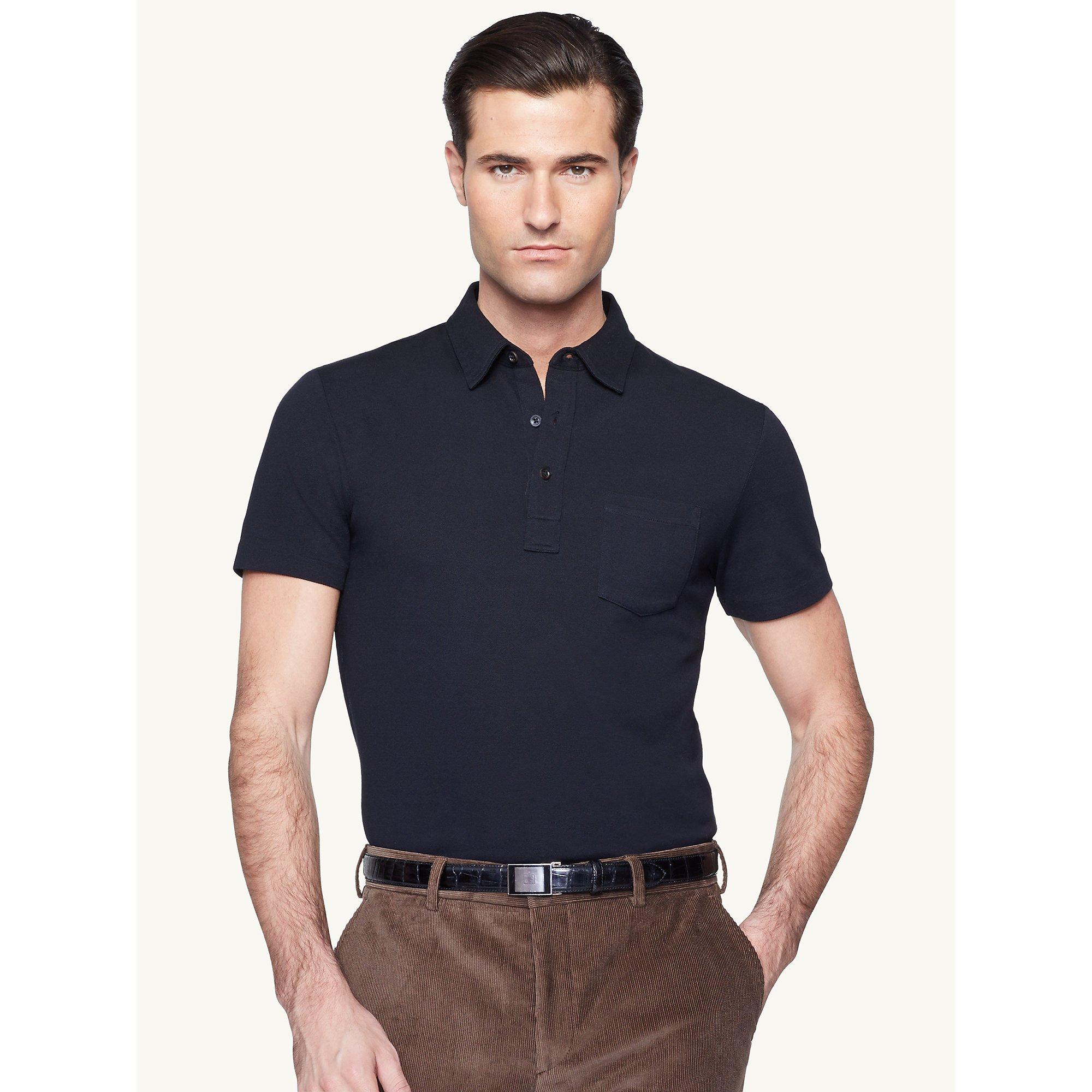 Ralph lauren black label short sleeved pocket t shirt in for Short sleeve polo shirt with pocket