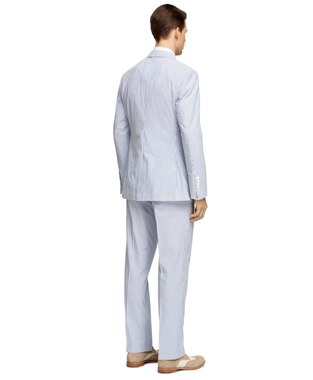 Brooks brothers Fitzgerald Fit Seersucker Suit in Blue for ...