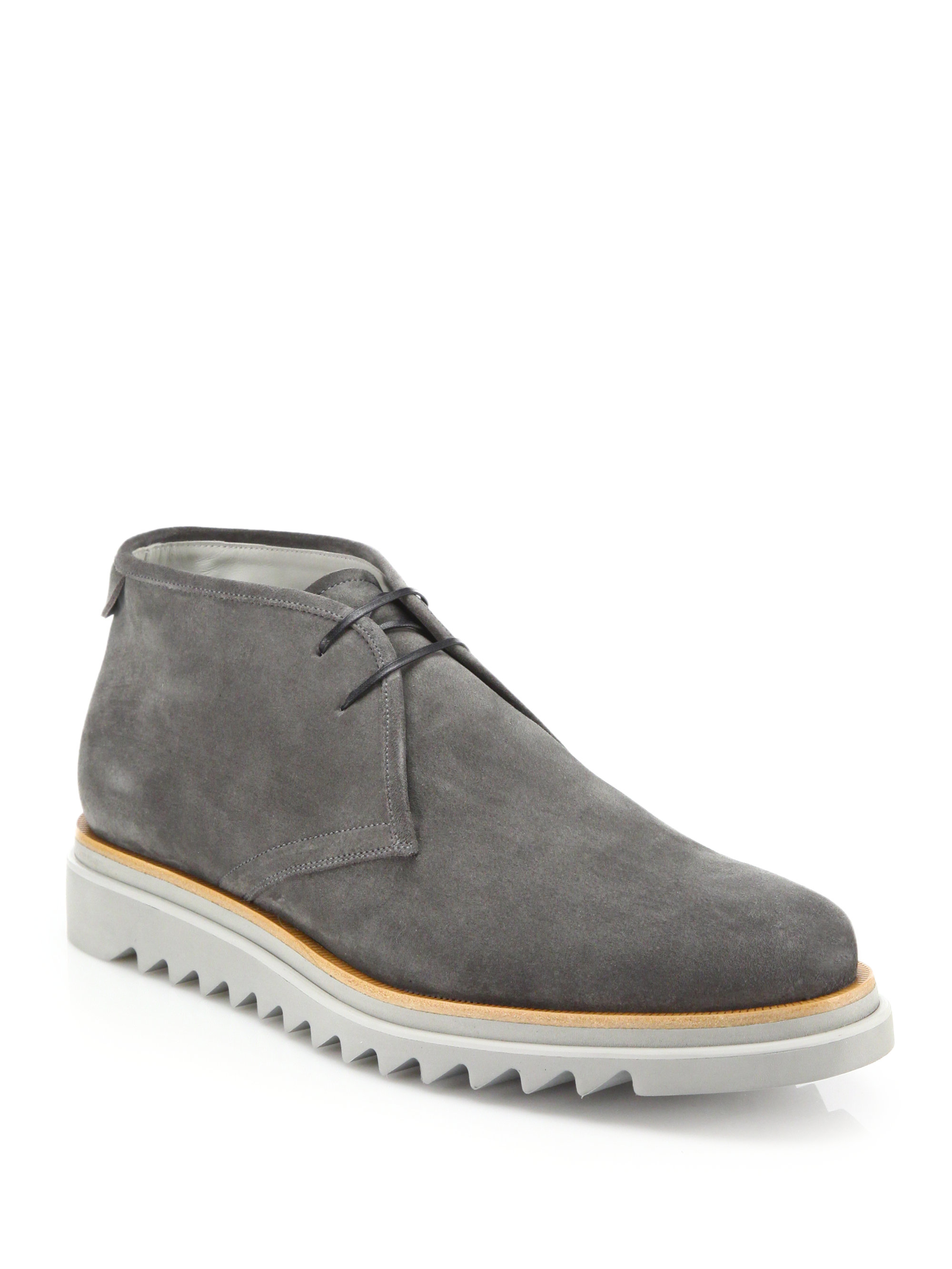 Buy Cheap Shop Offer Mens Charlie Suede Chukka Boots Salvatore Ferragamo Cheap Lowest Price 2018 New For Sale rFcwuvP