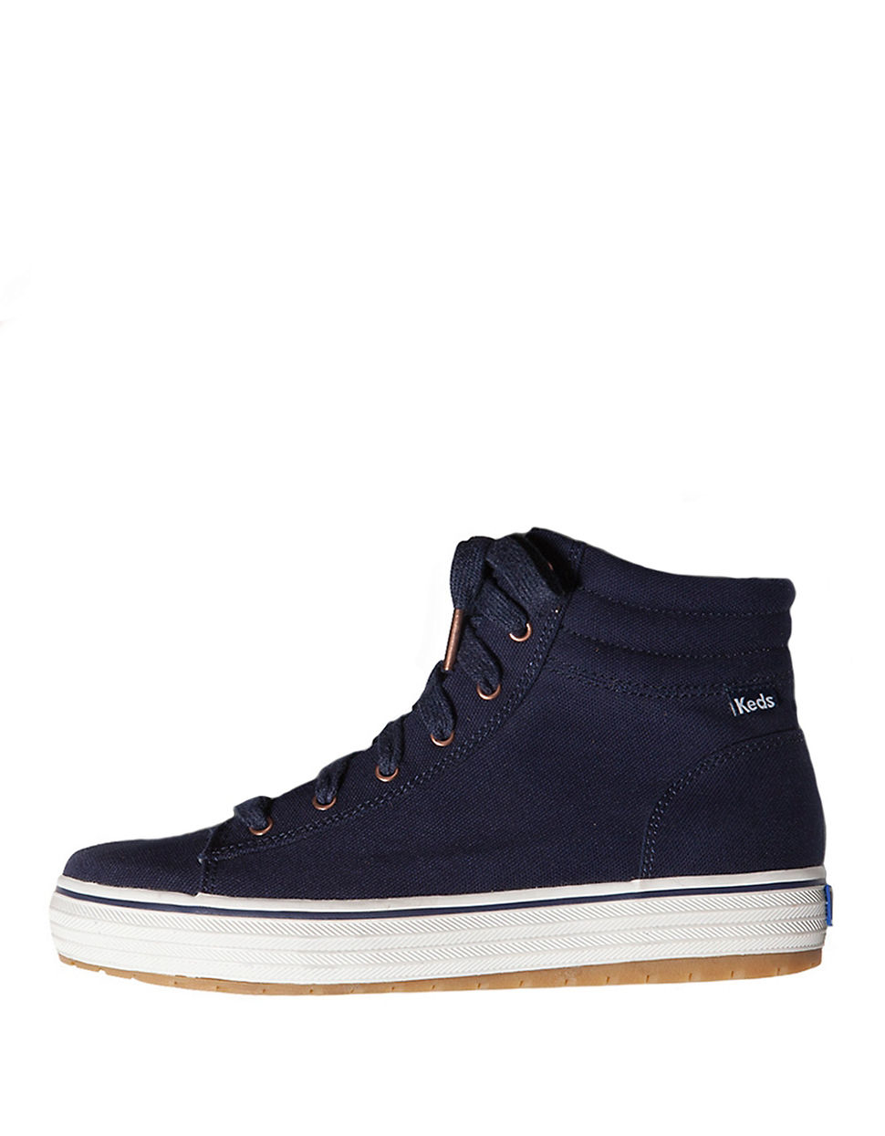 keds hi rise canvas high top sneakers in blue lyst