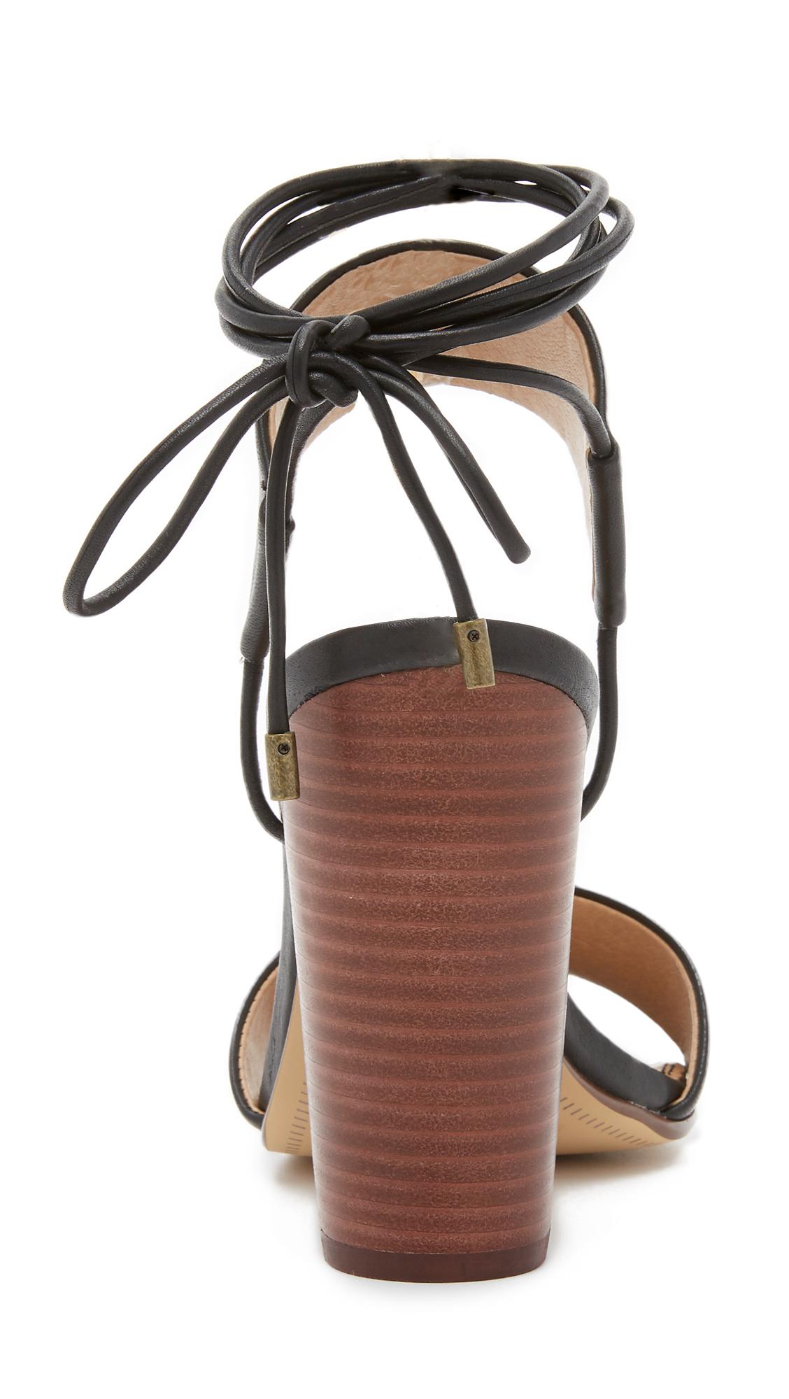 Lyst Splendid Kenya Chunky Heel Sandals In Black