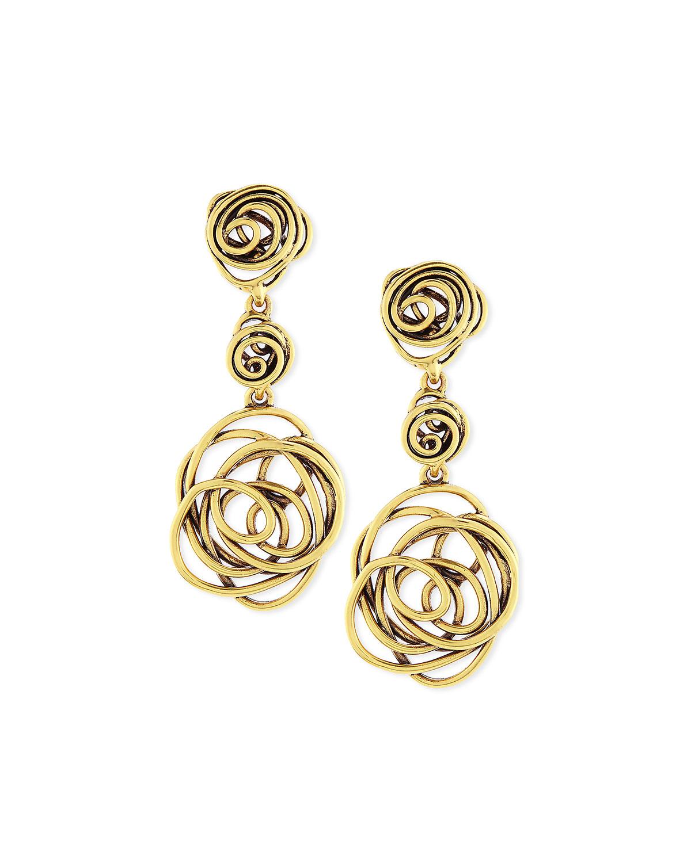 Oscar De La Renta hammered heart earring - Metallic JPYjo2