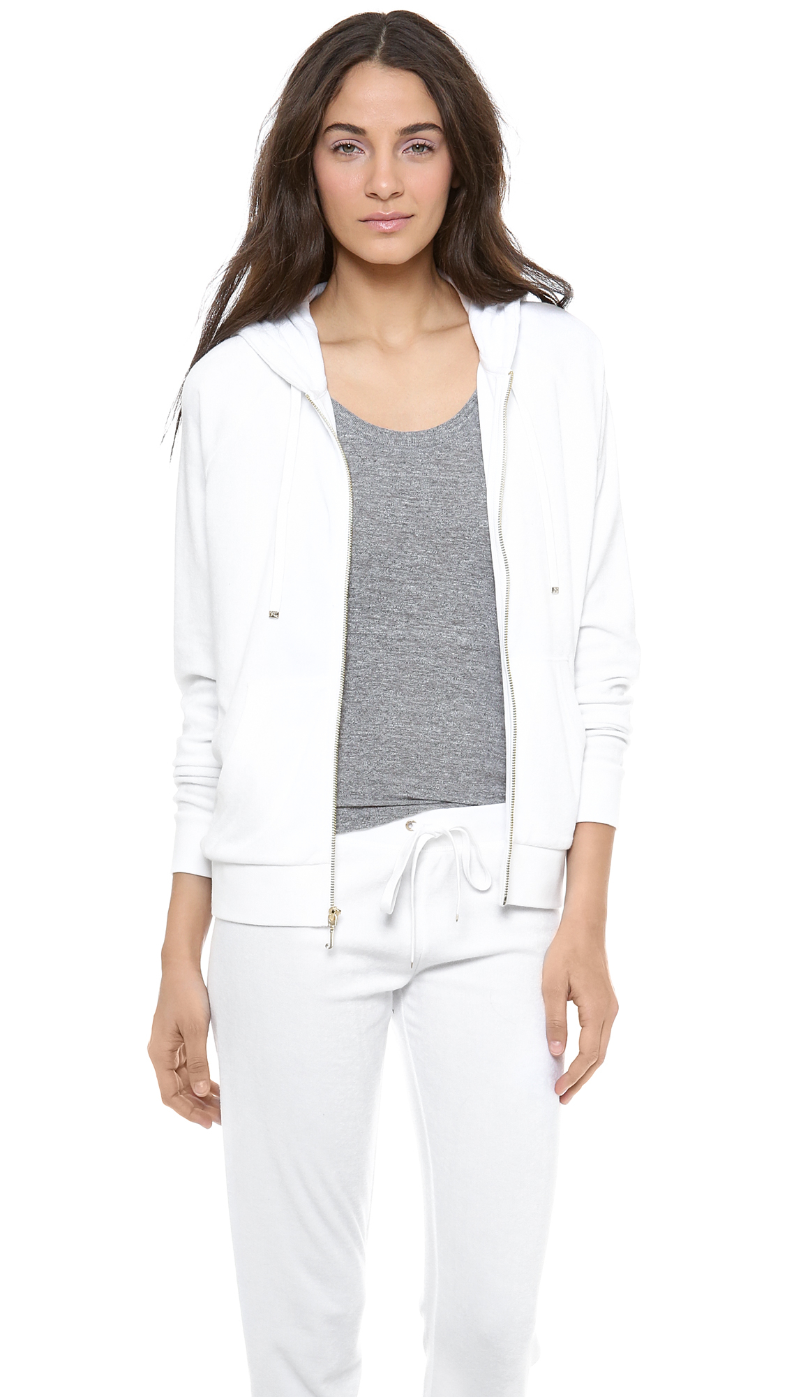 Lyst - Juicy Couture Micro Terry Relaxed Jacket in White