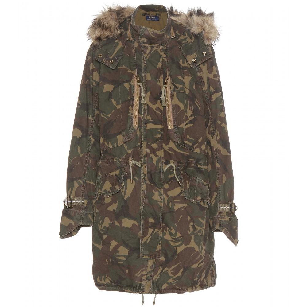 Lyst Polo Ralph Lauren Utility Camo Print Cotton Coat In