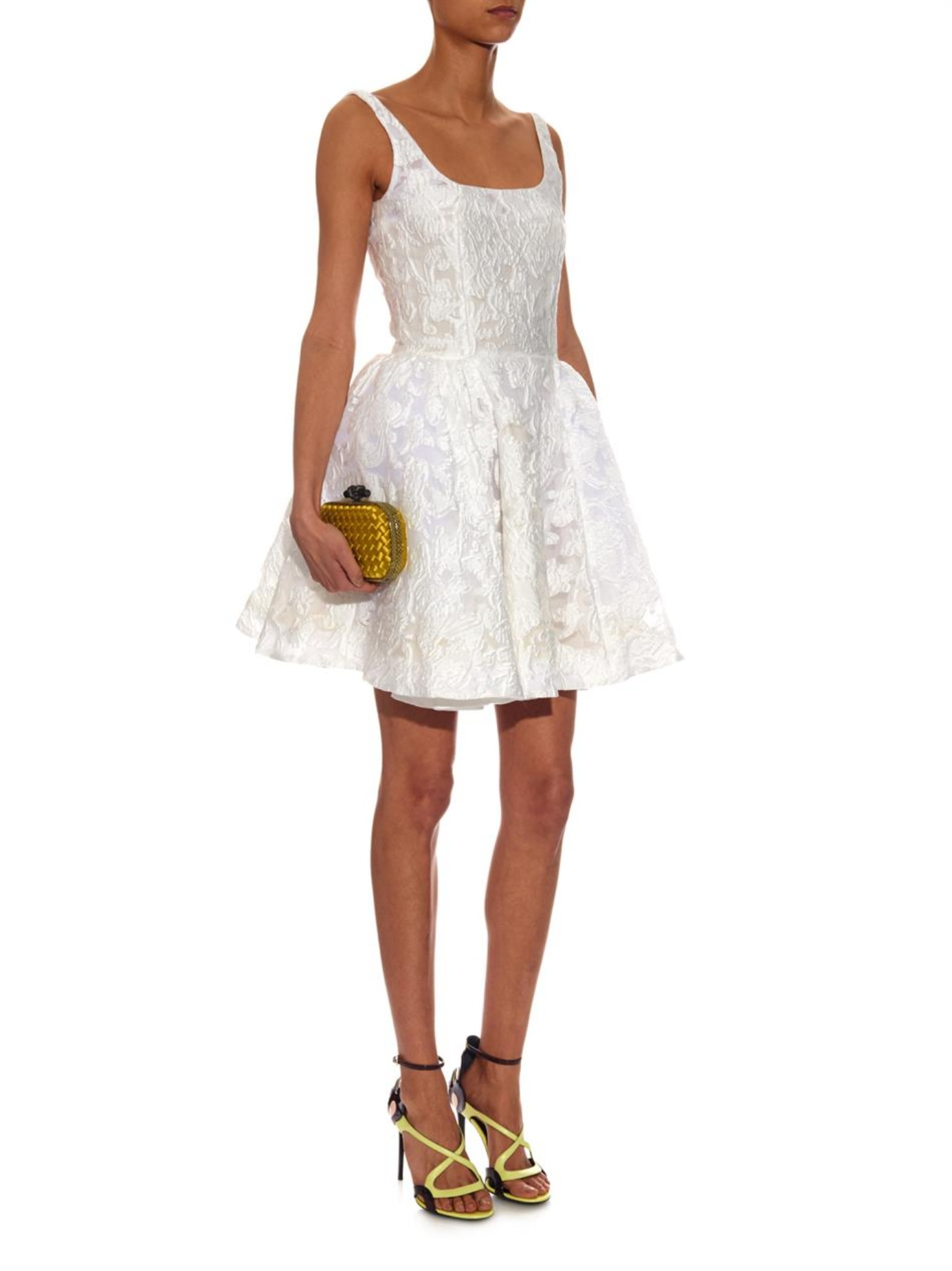 d9c57f9543b Lyst - Mary Katrantzou JQ Tivolio Jacquard Dress in White