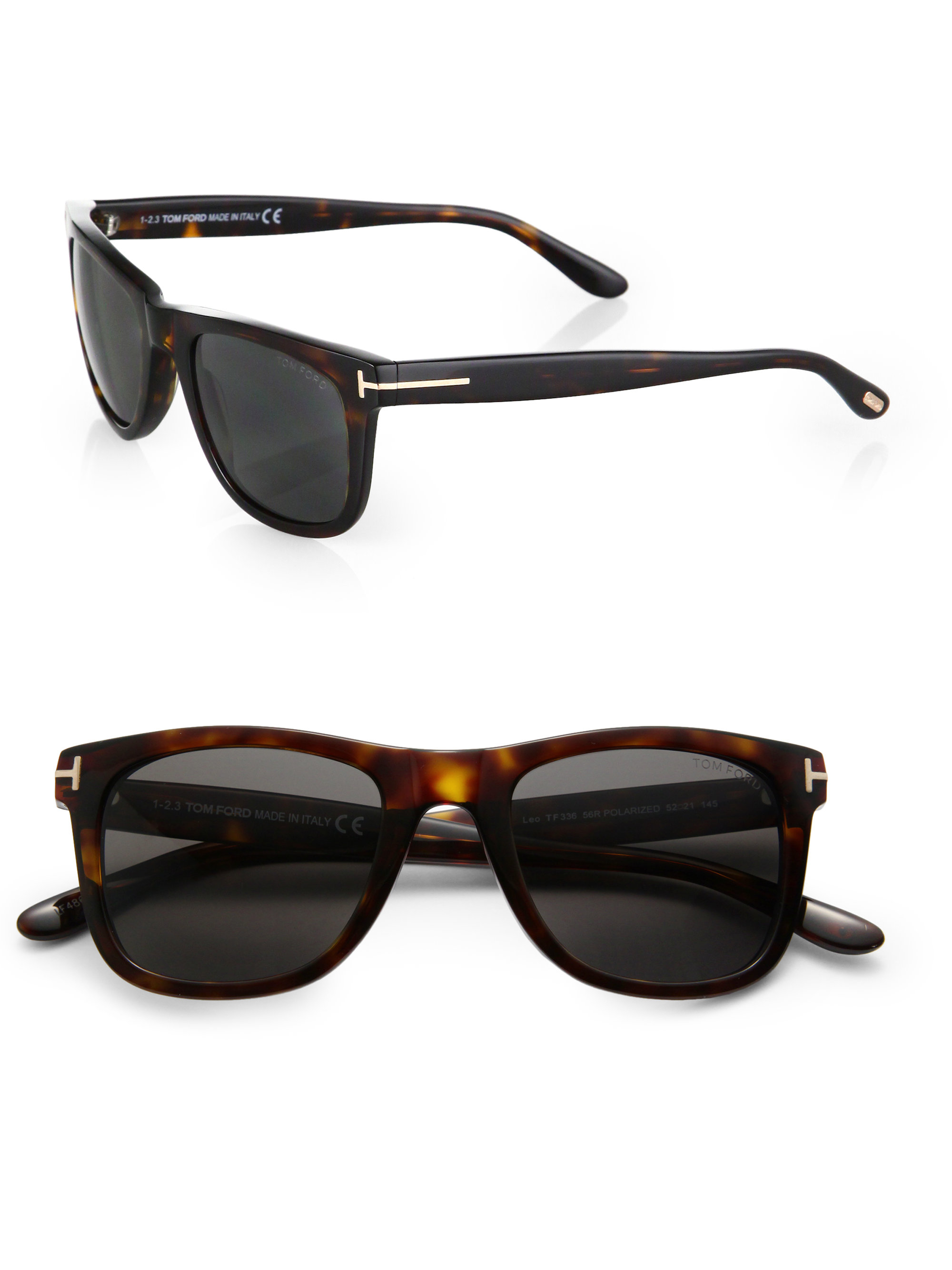 tom ford havana polarized sunglasses in black for men lyst. Black Bedroom Furniture Sets. Home Design Ideas