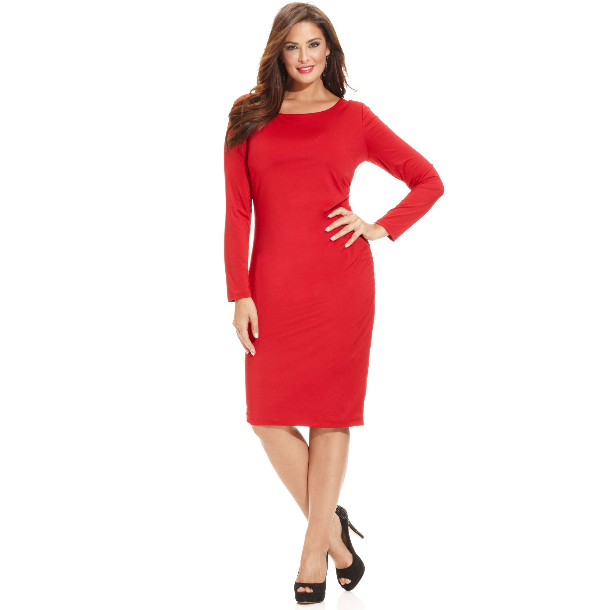 Lyst Inc International Concepts Plus Size Longsleeve Bodycon Dress