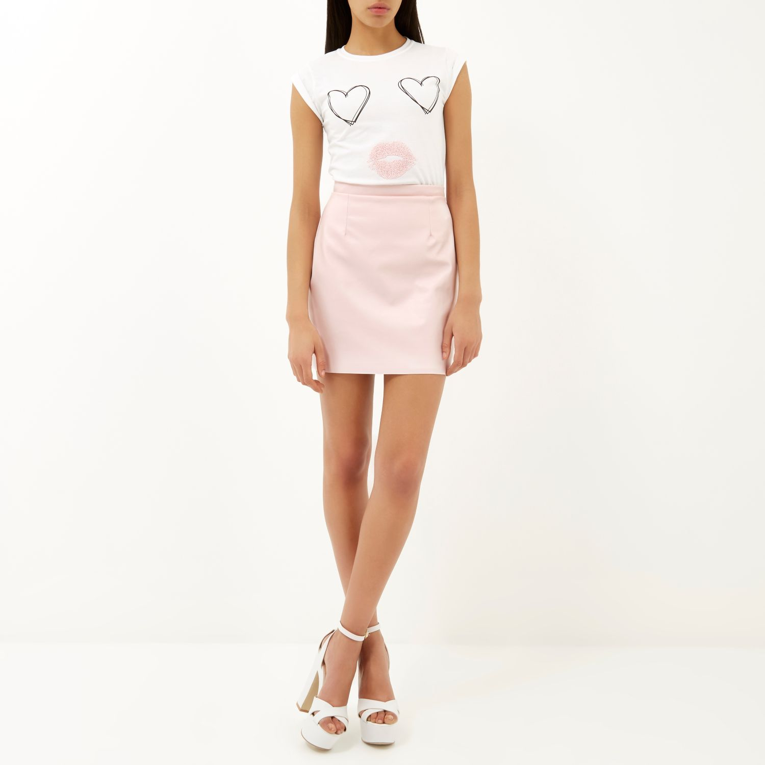 Light Pink Mini Skirt | Jill Dress