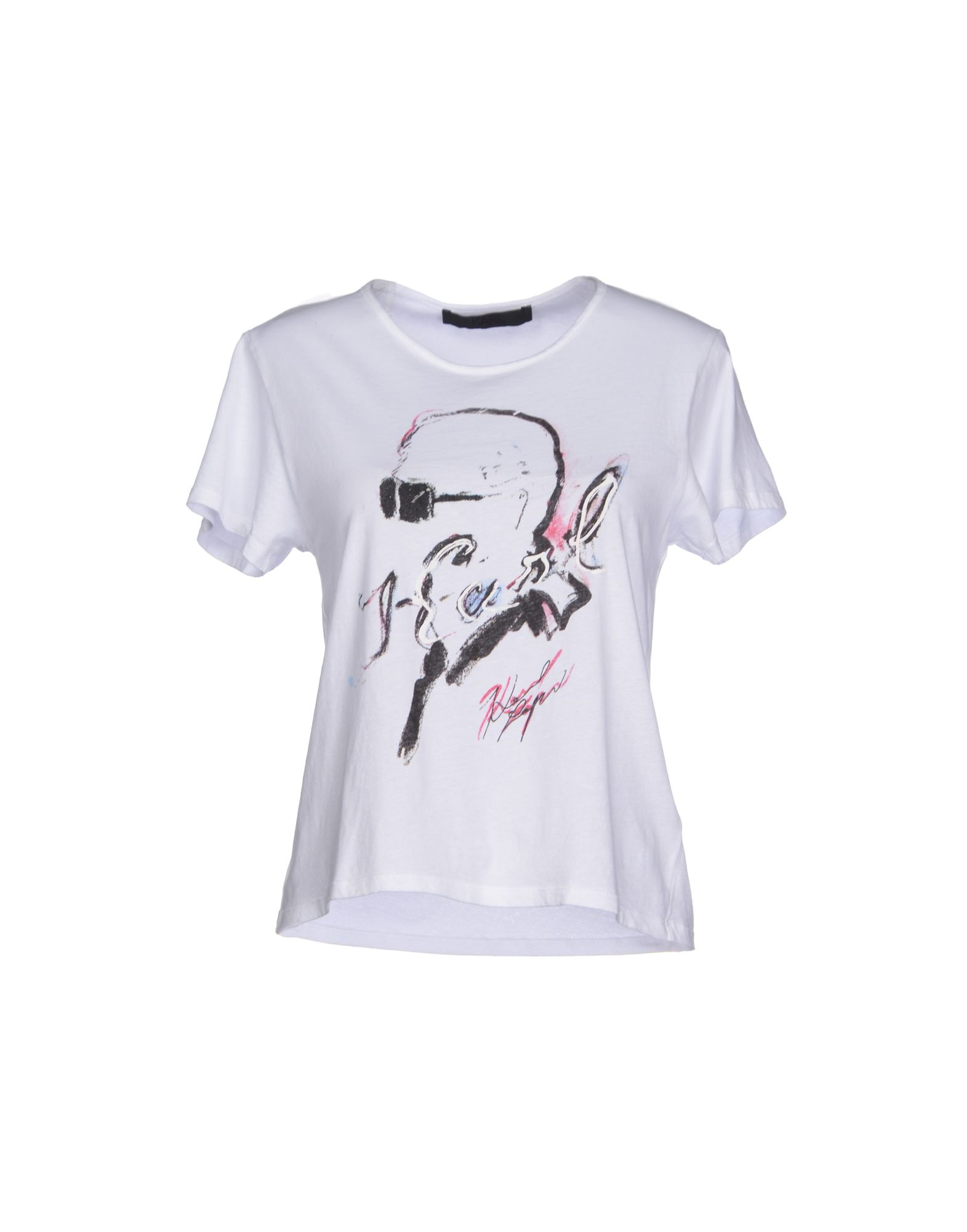 karl by karl lagerfeld t shirt in white lyst. Black Bedroom Furniture Sets. Home Design Ideas