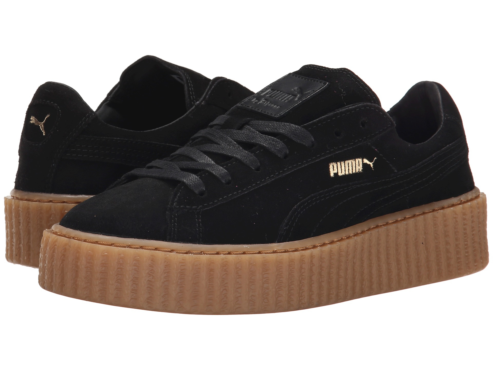 puma rihanna x suede creepers in black lyst. Black Bedroom Furniture Sets. Home Design Ideas