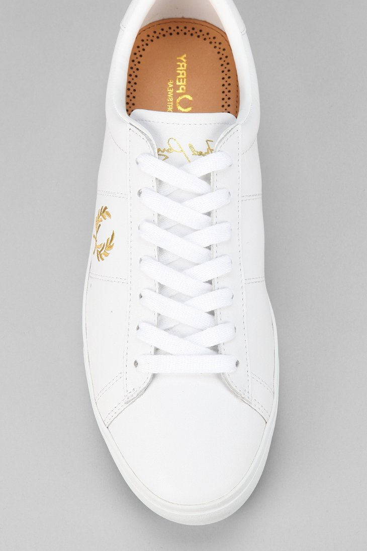 290ab288438 Fred Perry Spencer Leather Sneaker in White for Men - Lyst