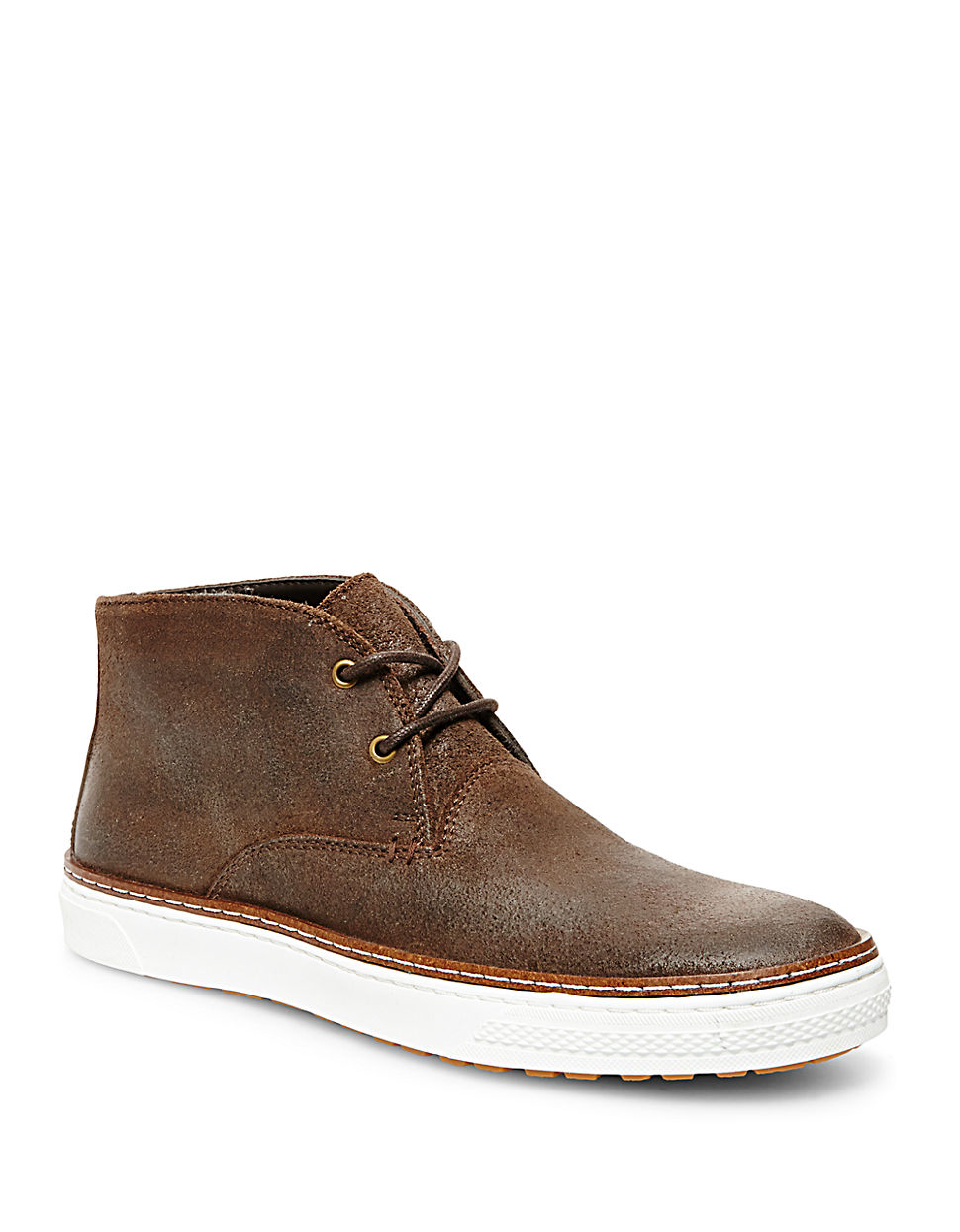 steve madden fedder suede chukka boots in brown for lyst