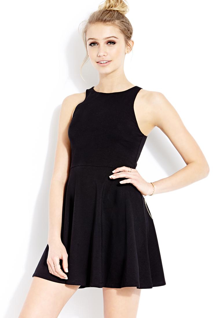 Lyst Forever 21 Must Have Skater Dress In Black