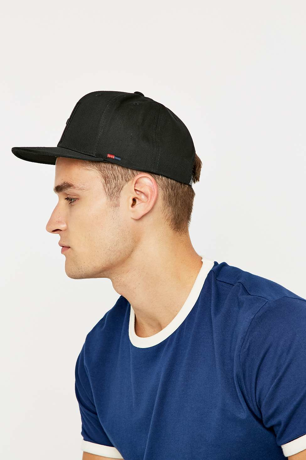 ca590816064 ... czech herschel supply co. toby black snapback cap in black for men lyst  dcd03 a9a24