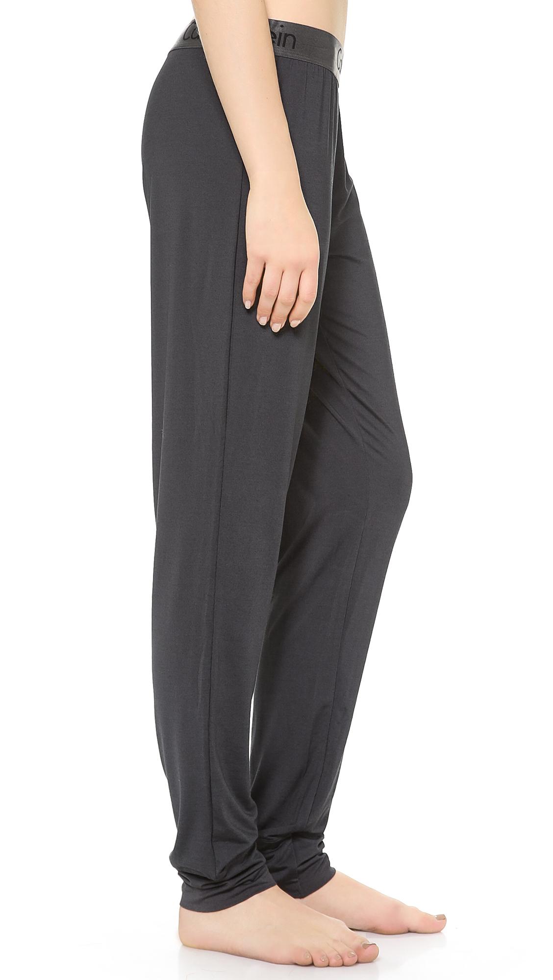 Lyst - Calvin Klein Dual Tone Pj Pants in Black