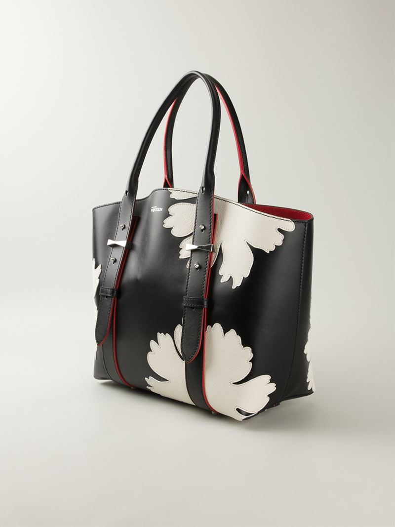 Lyst Alexander Mcqueen Legend Lotus Flower Shopper