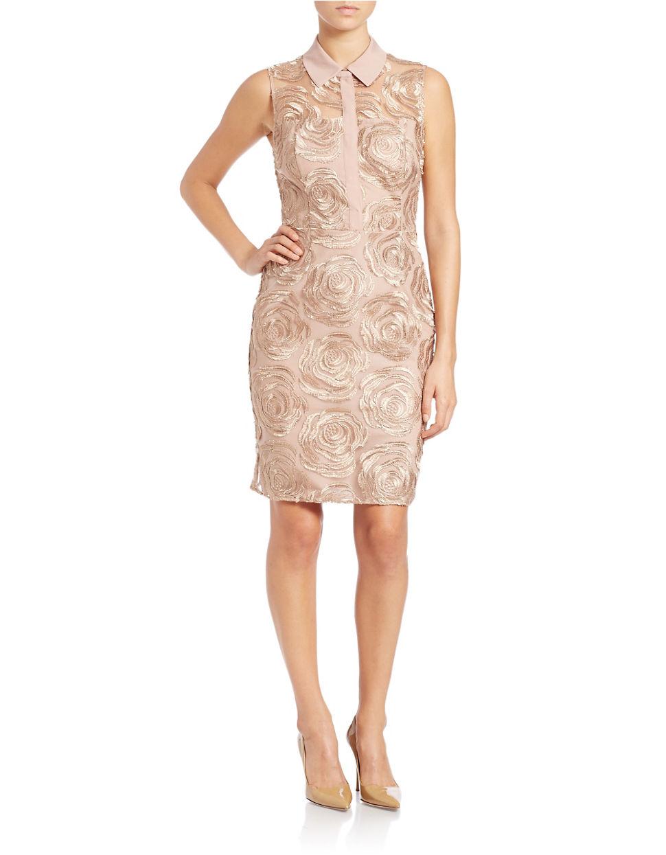 Rachel rachel roy Floral Sheath Dress in Pink | Lyst
