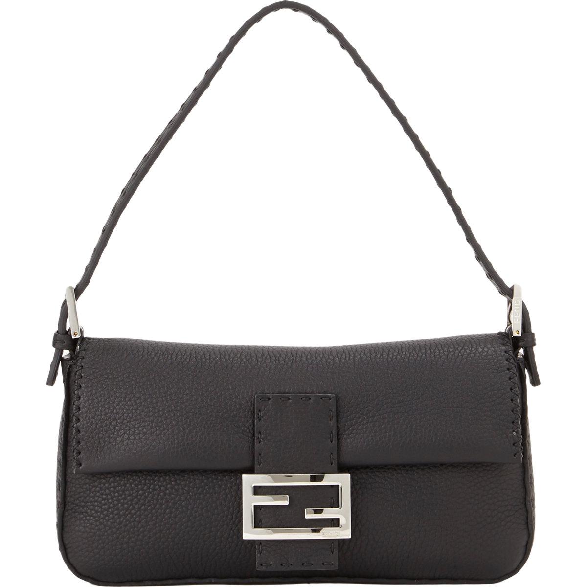 61cdf49a08ef ... hot lyst fendi selleria baguette bag in black ae18e b3aa3 ...