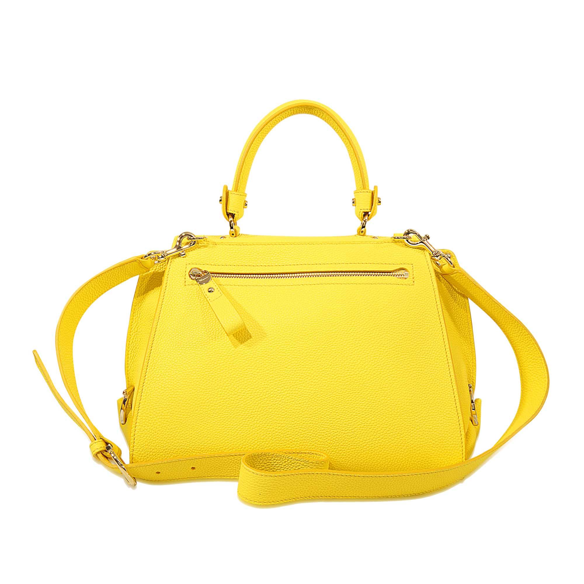 3d5c862e41 Lyst - Ferragamo Sofia Medium Top Handle Bag in Yellow
