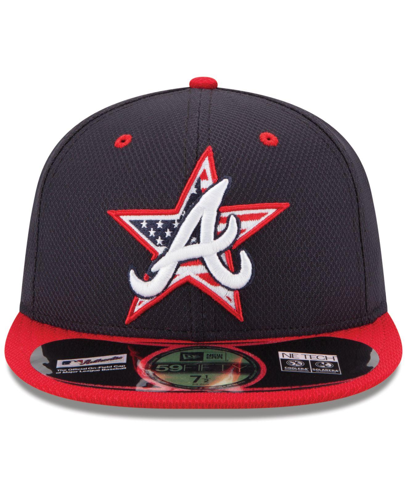 0d33b96f397 Lyst - KTZ Atlanta Braves July 4Th Stars   Stripes 59Fifty Cap in ...