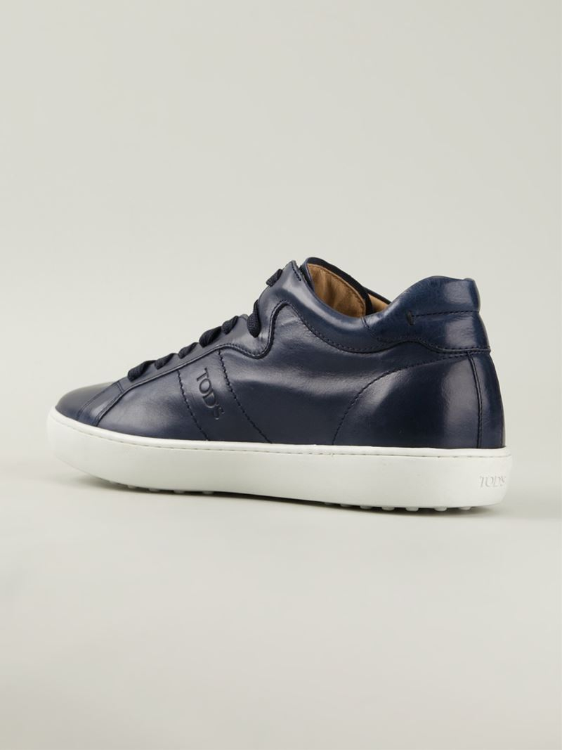 Tod's Men's Blue Leather Sneakers Cheapest for sale marketable cheap price discount price cheap top quality discount largest supplier bNSdFE