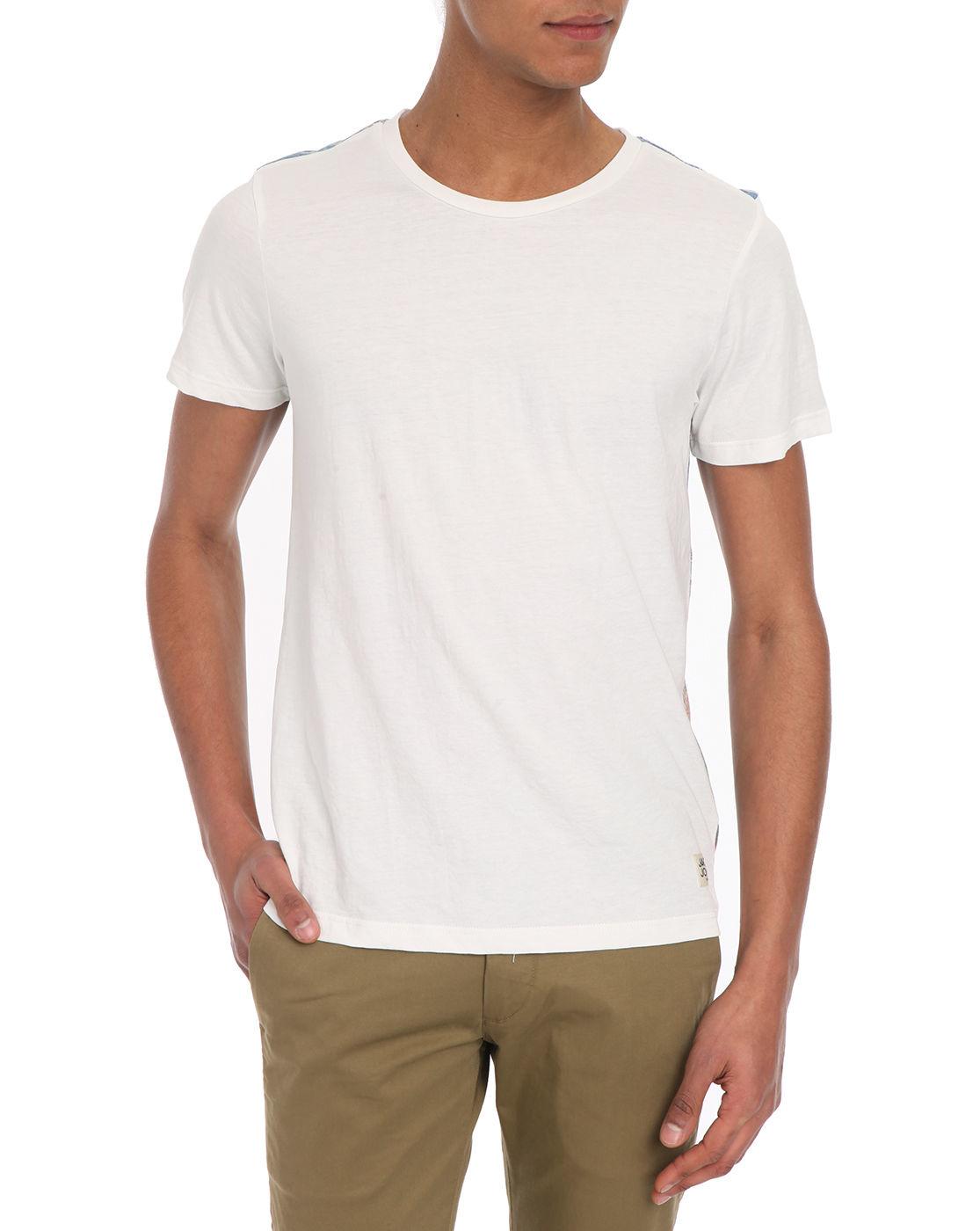 jack jones sun flowers print t shirt in white for men lyst. Black Bedroom Furniture Sets. Home Design Ideas
