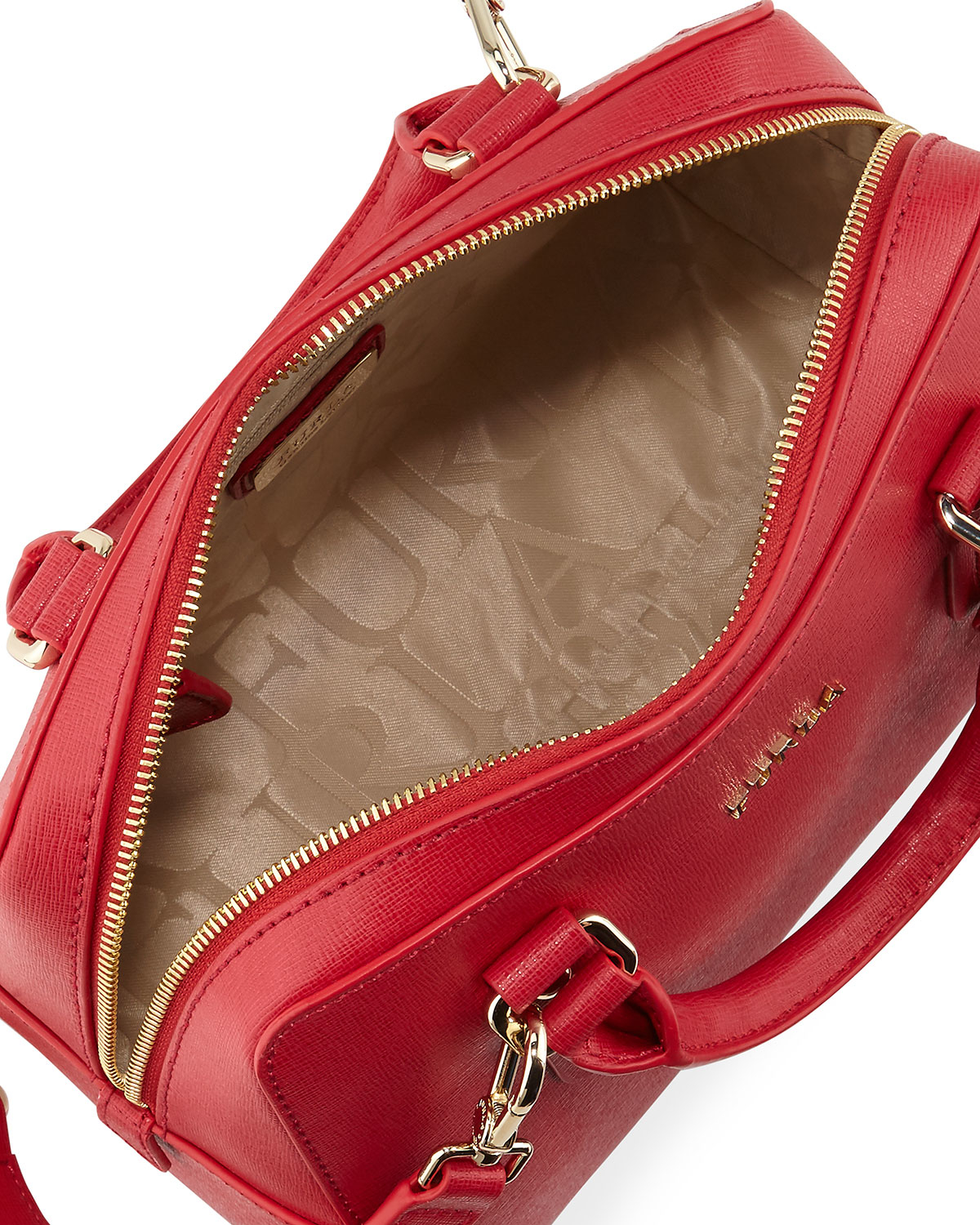 Furla Elena Small Leather Satchel Bag in Red | Lyst