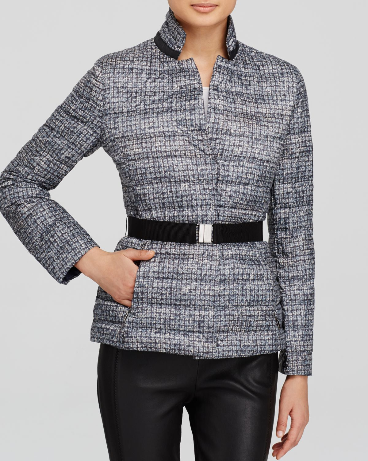 Lyst Weekend By Maxmara Jacket Tibet Quilted In Gray