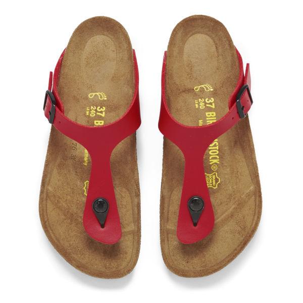 birkenstock red gizeh sandals