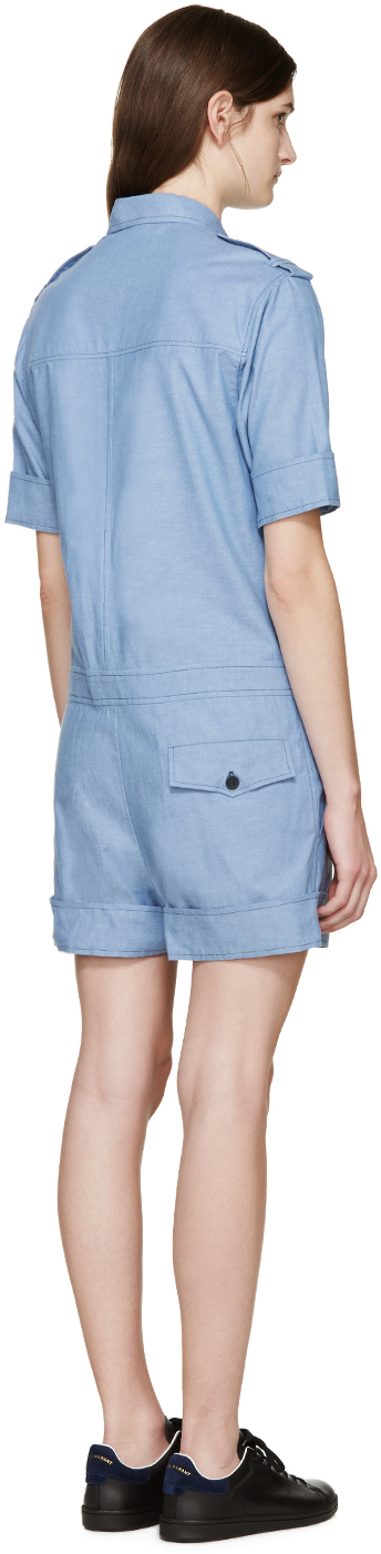 3ff26c6f0102 Étoile Isabel Marant Blue Chambray Wei Jumpsuit in Blue - Lyst