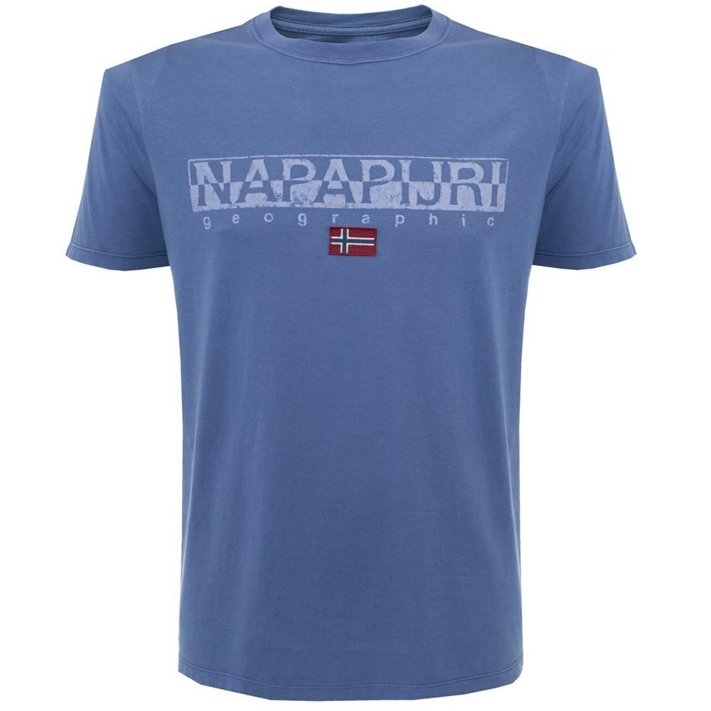 napapijri sapriol blue t shirt in blue for men save 16 lyst. Black Bedroom Furniture Sets. Home Design Ideas