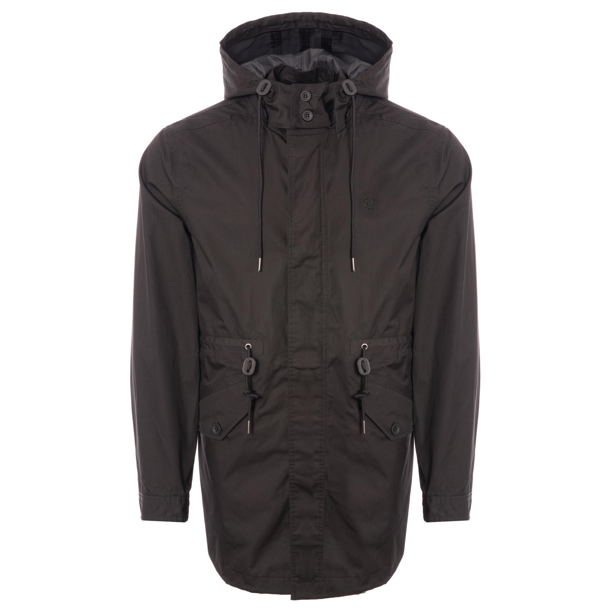 aa06c23e2e8d8 Fred Perry Authentic Fishtail Parka in Black for Men - Lyst