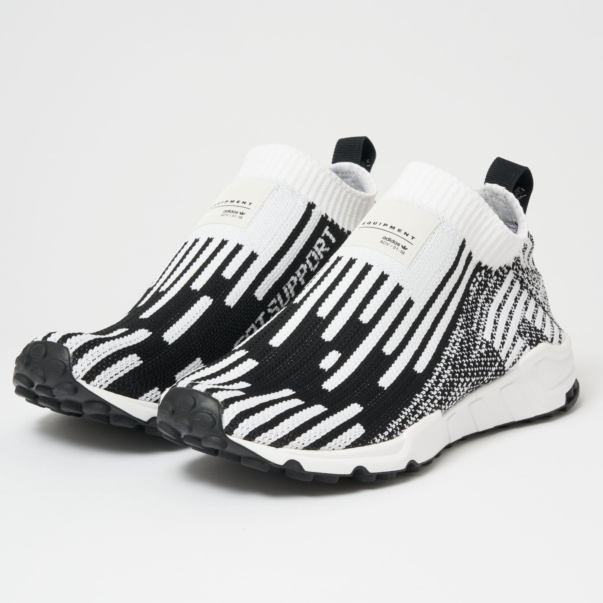 pretty nice bf1ff e3104 Lyst - adidas Originals Eqt Support Sock Primeknit - Ftwr White ...