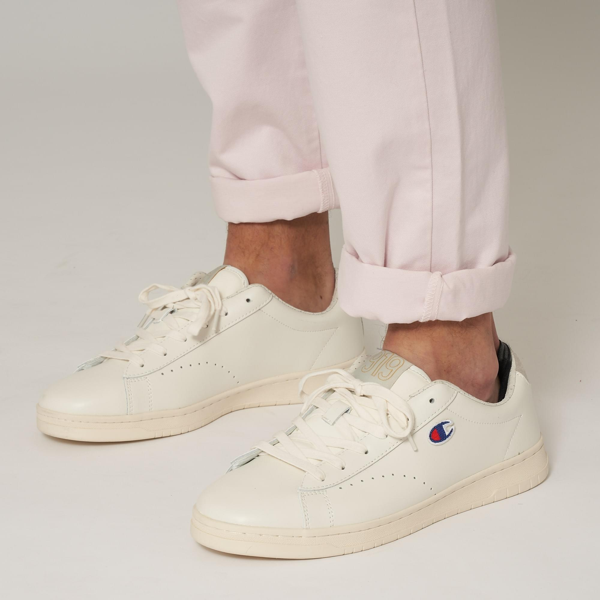 55352a2b36b50 Lyst - Champion 919 Low Top  c  Patch Trainers - White in White for ...