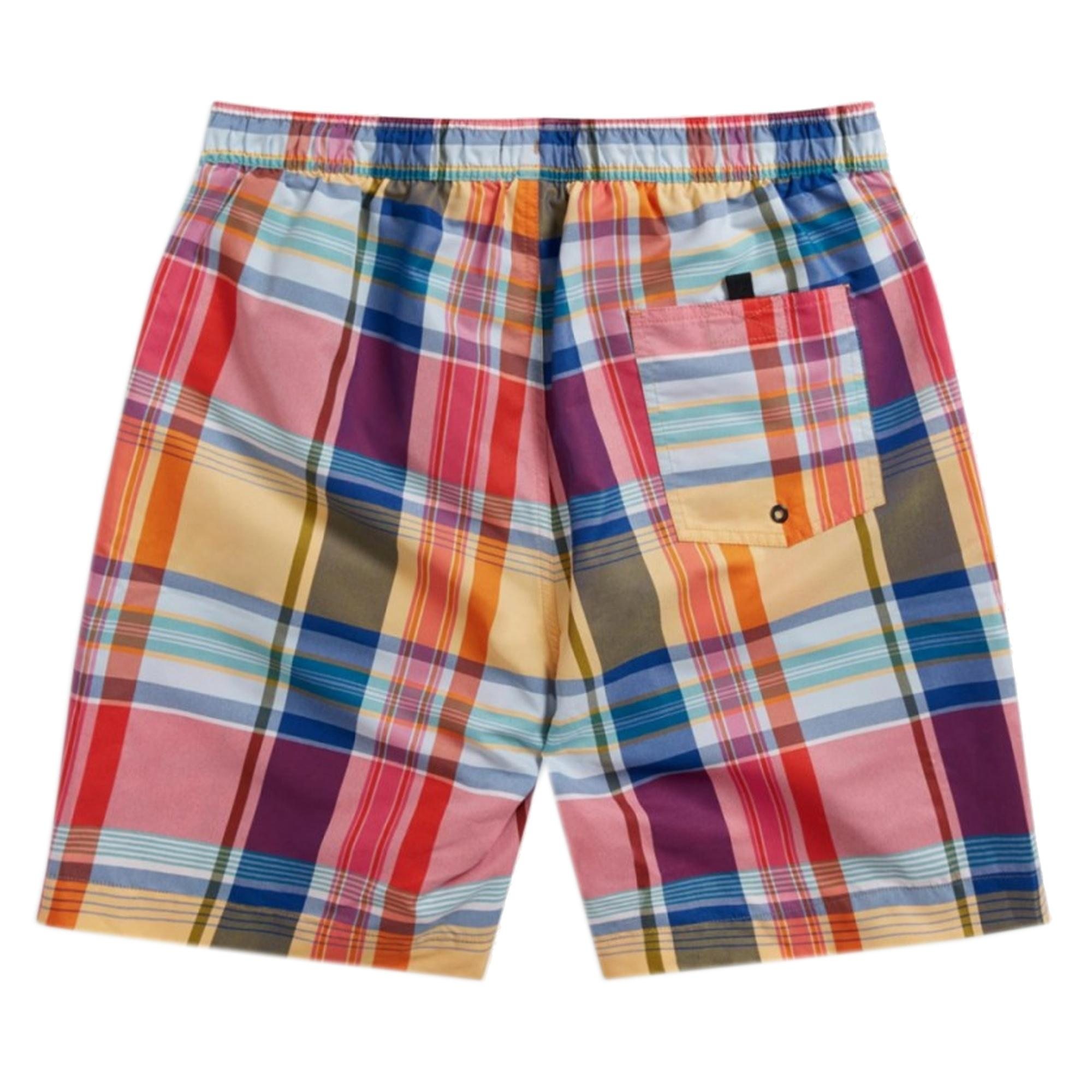 91abebc674 Fred Perry Authentic - Multicolor Madras Check Swim Shorts for Men - Lyst.  View fullscreen