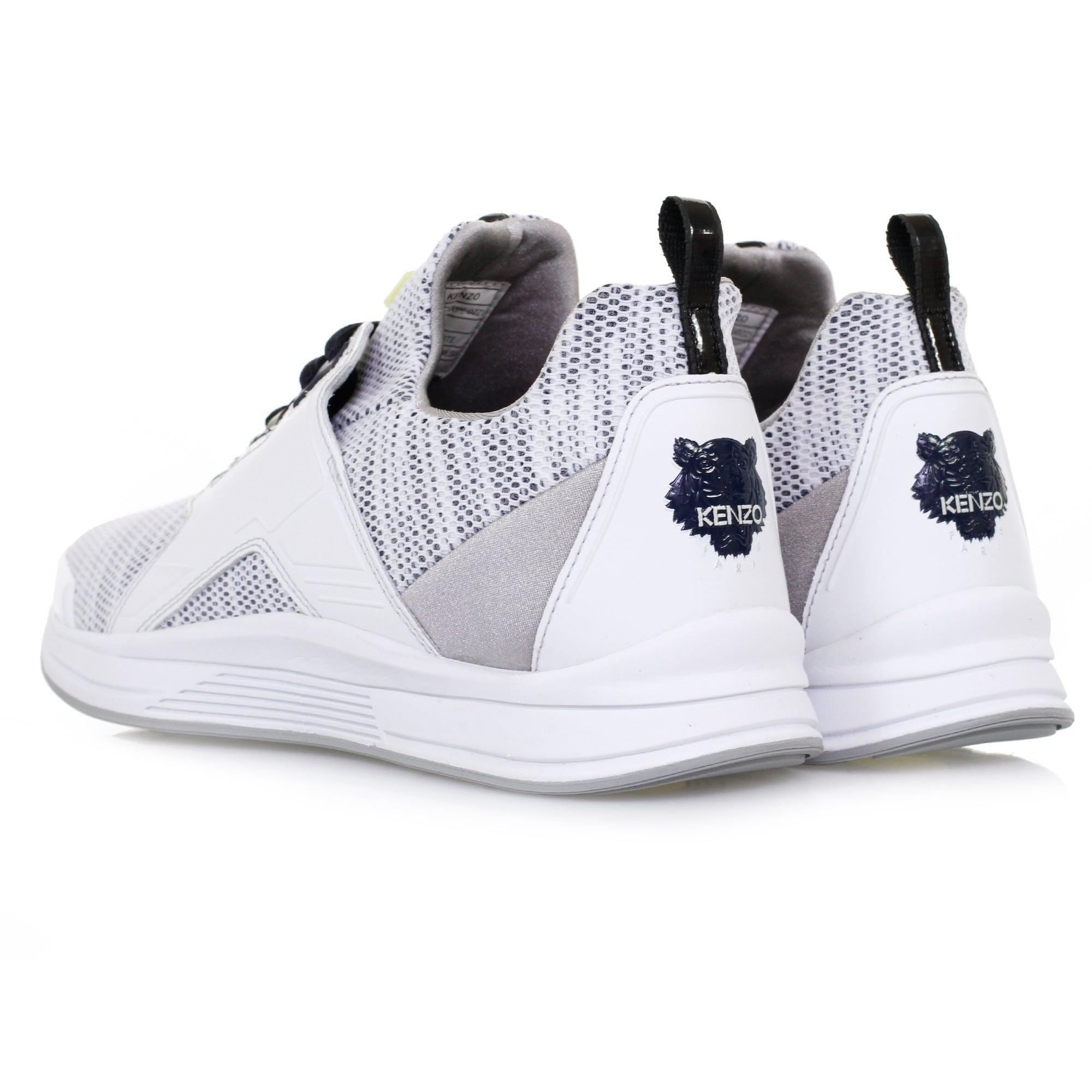 a34bb3636de9 Lyst - KENZO Ozzy E17 Mesh White Shoe in White for Men