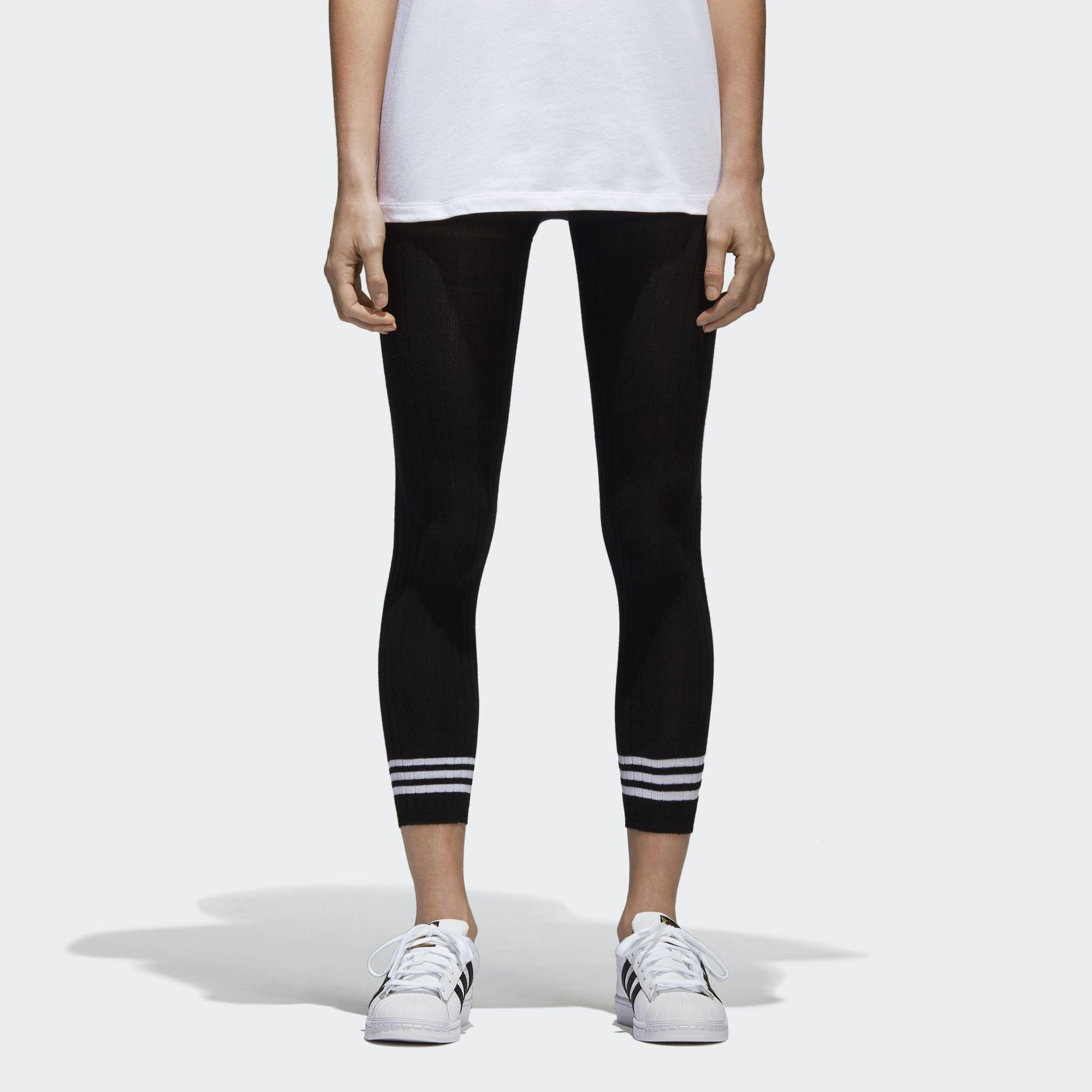 2cbdc103757 Lyst - Adidas Originals Womens 3-stripes Tights in Black - Save 11%