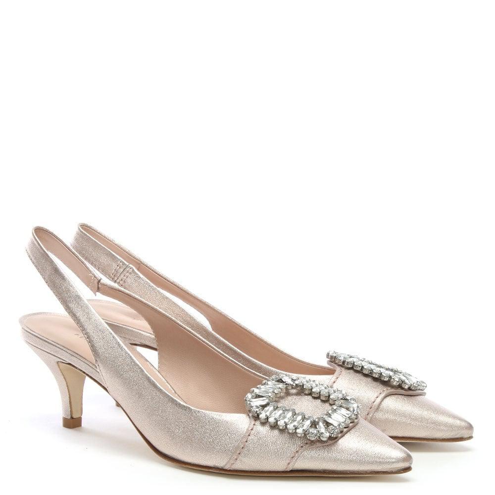 956209799969 Kennel   Schmenger - Hertz Pink Metallic Leather Kitten Heel Shoes - Lyst.  View fullscreen