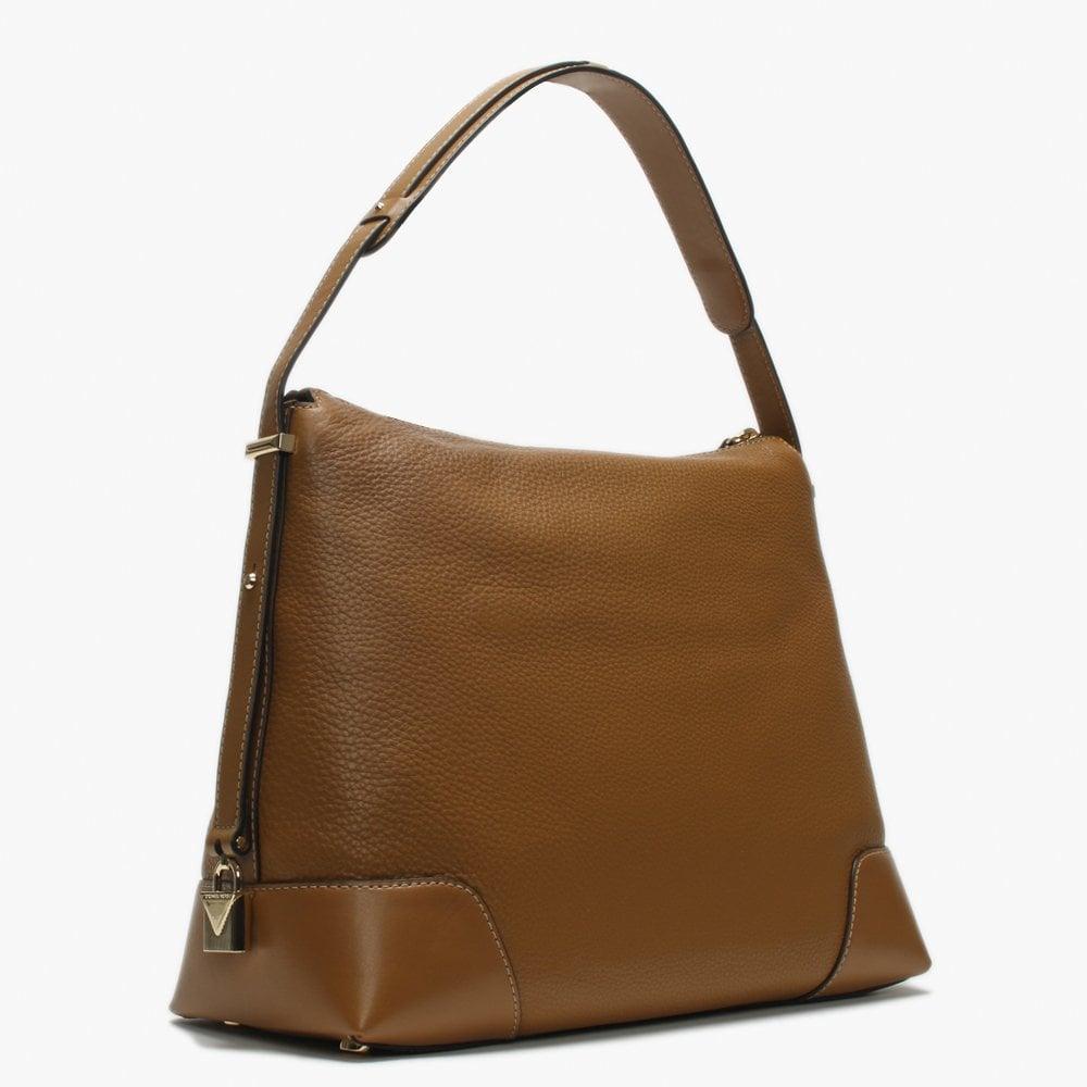 4f185cc05318 Michael Kors - Brown Large Crosby Acorn Pebbled Leather Shoulder Bag -  Lyst. View fullscreen