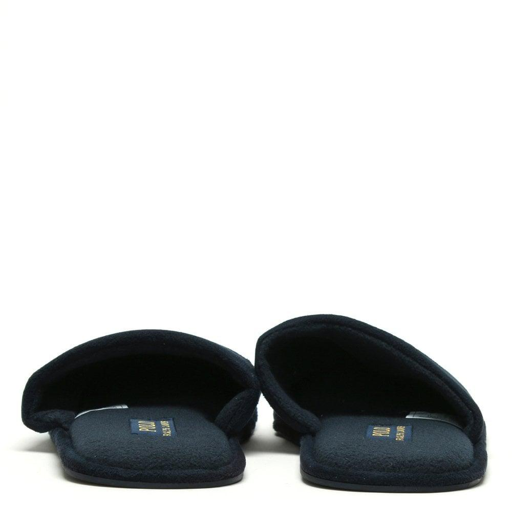 e58466737 Lyst - Polo Ralph Lauren Men s Sunday Scuff Navy Slippers in Blue ...