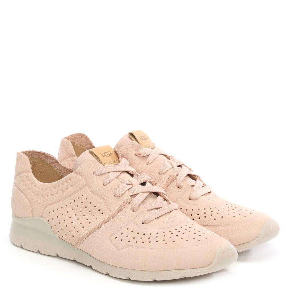 b4a207bbc5a Ugg - Pink Tye Quartz Leather Perforated Trainer - Lyst