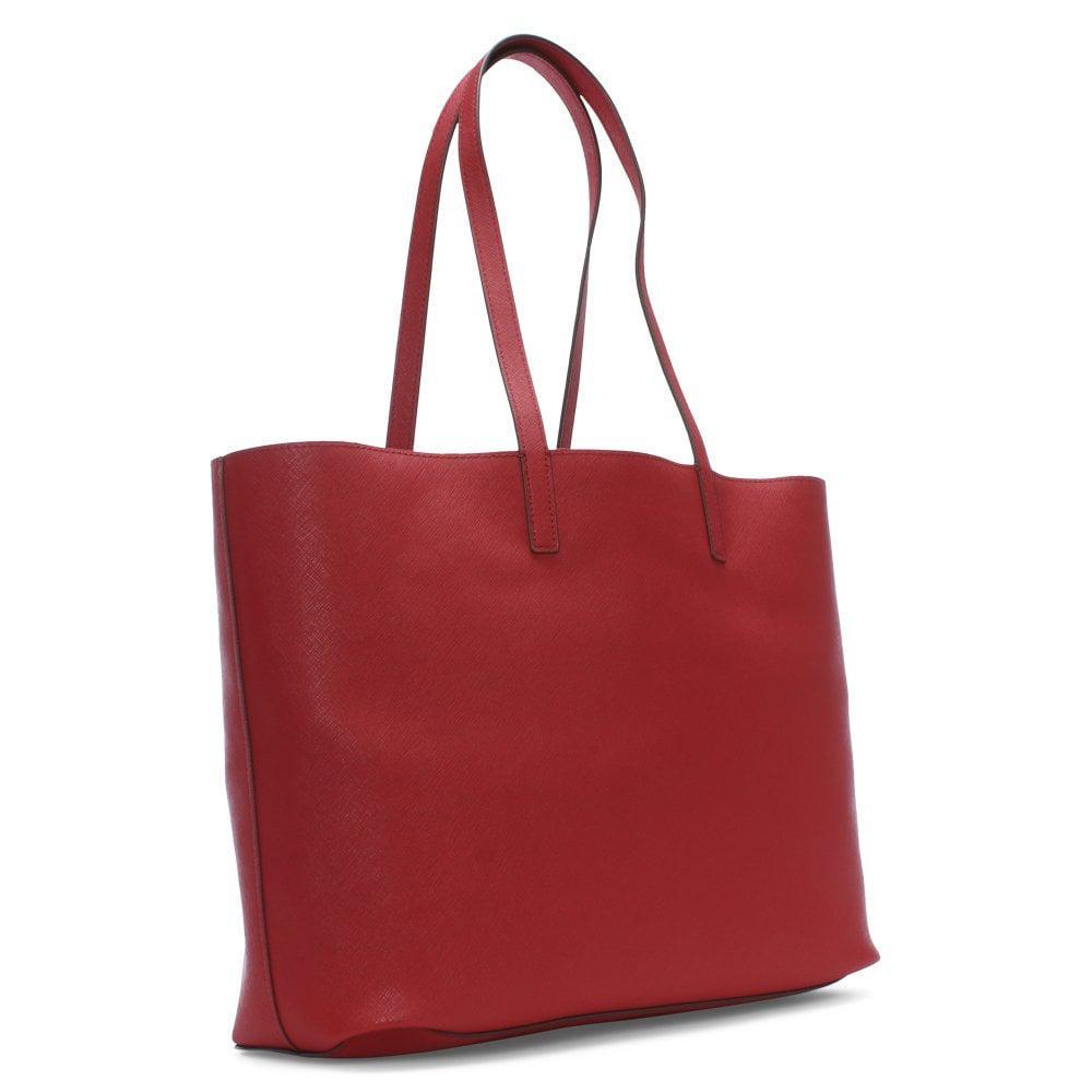 18f1b9b904 Lyst - DKNY Brayden Reversible Mocha Logo Tote Bag in Red