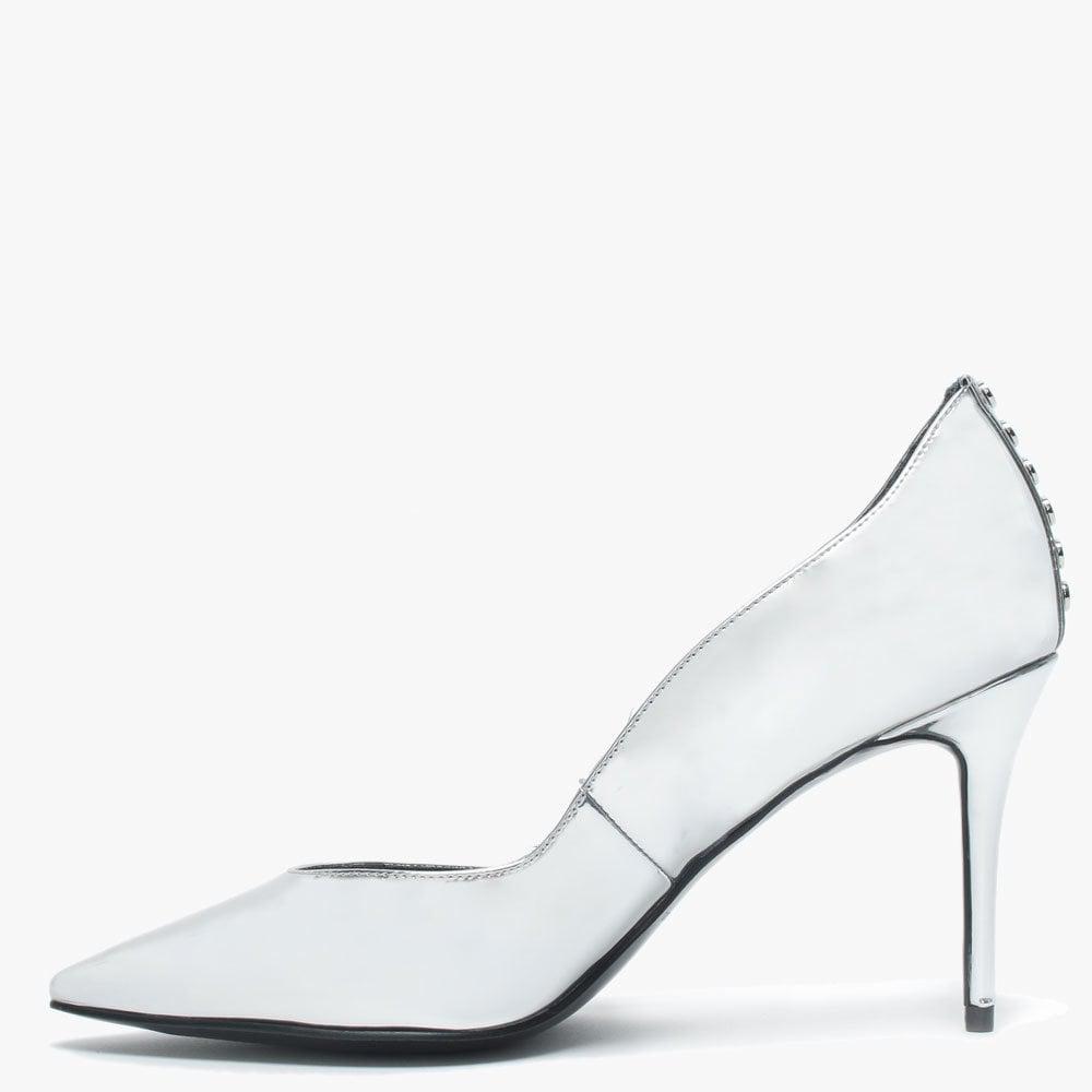 3c661ff1367 Kendall + Kylie - Brianna Silver Metallic Studded Court Shoes - Lyst. View  fullscreen