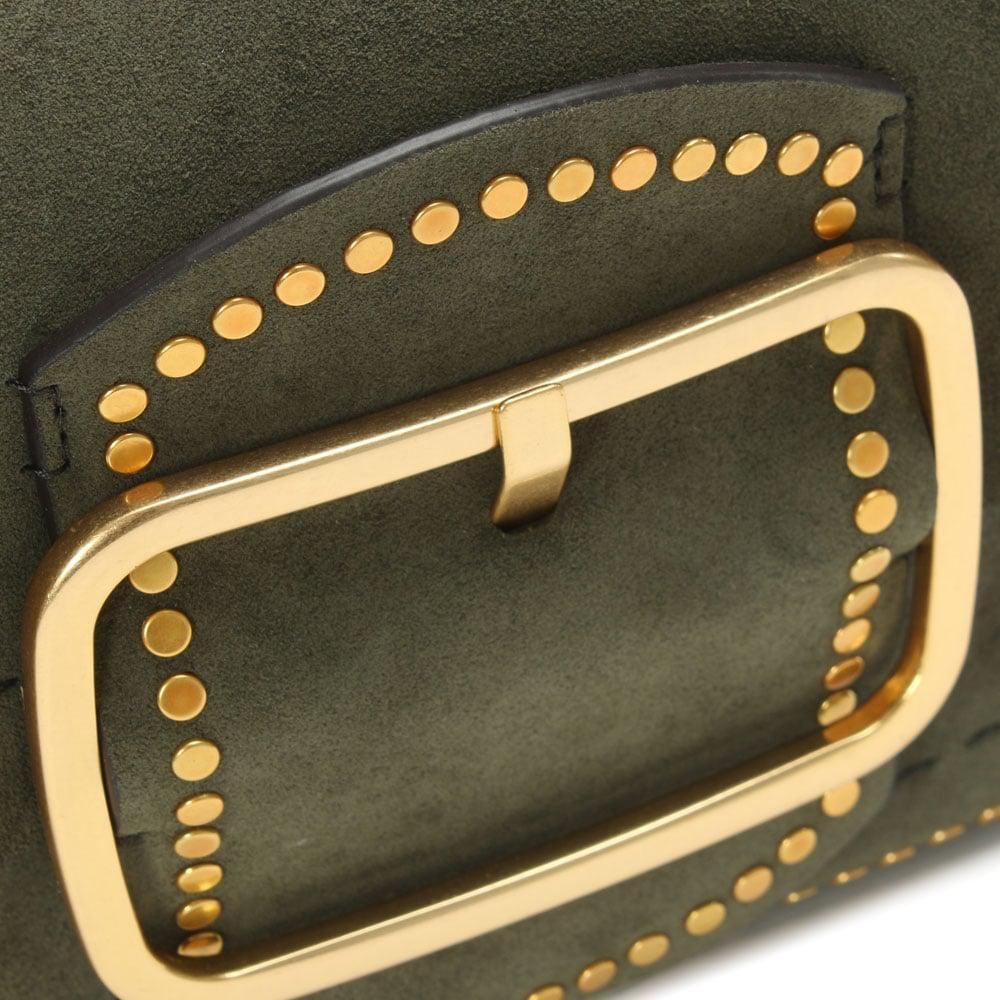 ef59f168824e Lyst - Tory Burch Sawyer Boxwood Suede Shoulder Bag in Gray