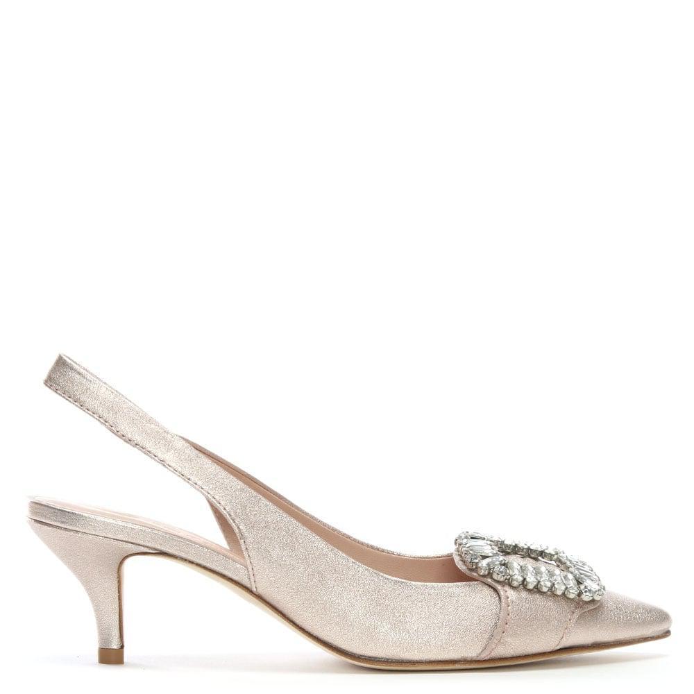 f8fe2968fad2 Kennel   Schmenger. Women s Hertz Pink Metallic Leather Kitten Heel Shoes